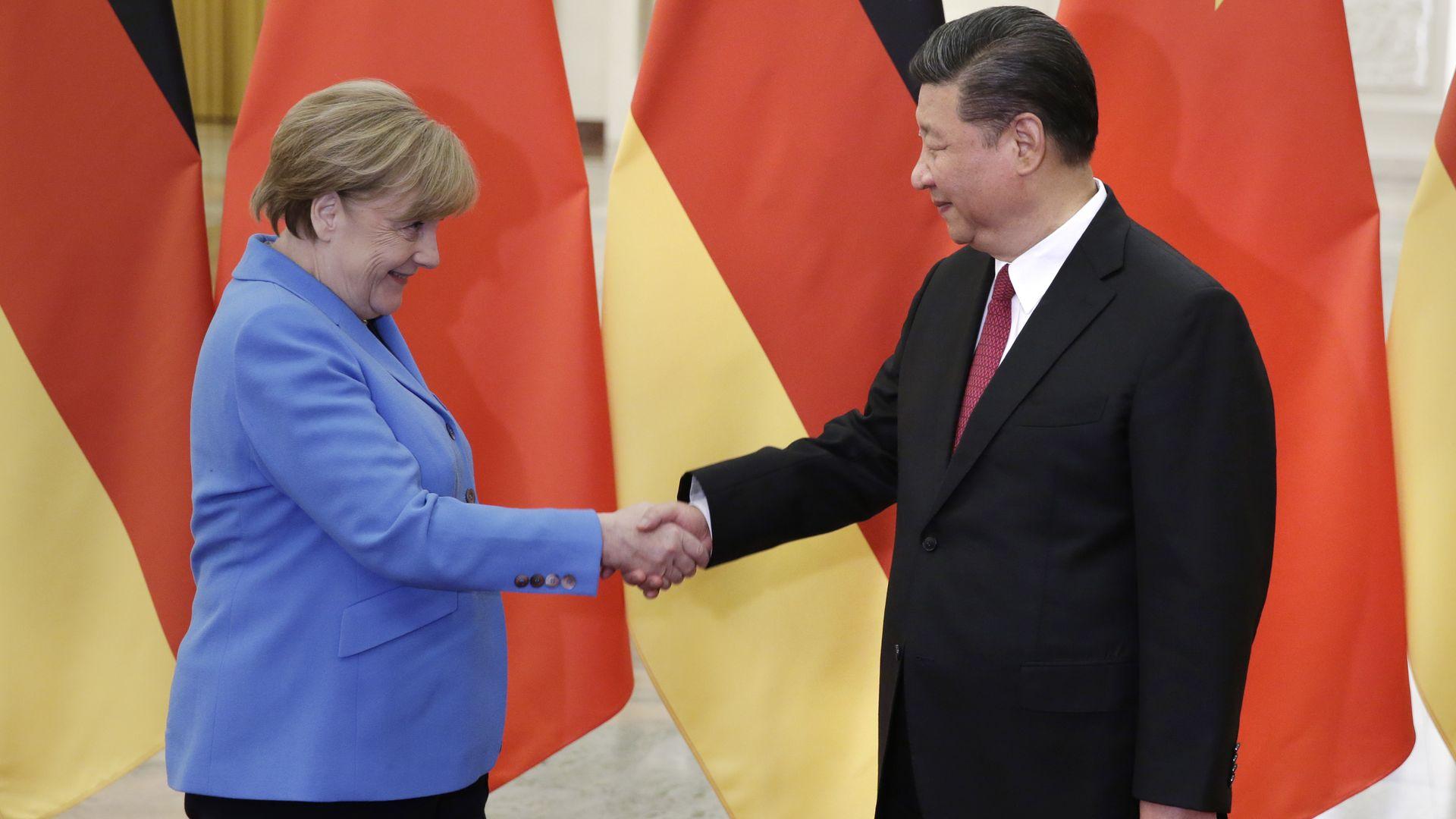 Angela Merkel Warns Against Demonizing China For Its Success Axios