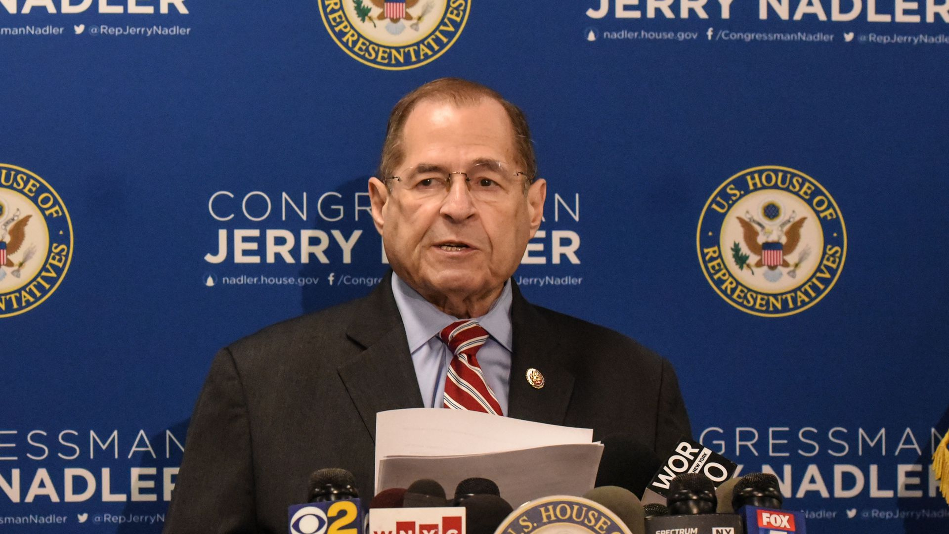 House Judiciary Committee Rep. Jerry Nadler (D-NY) speaks to members of the press on May 29