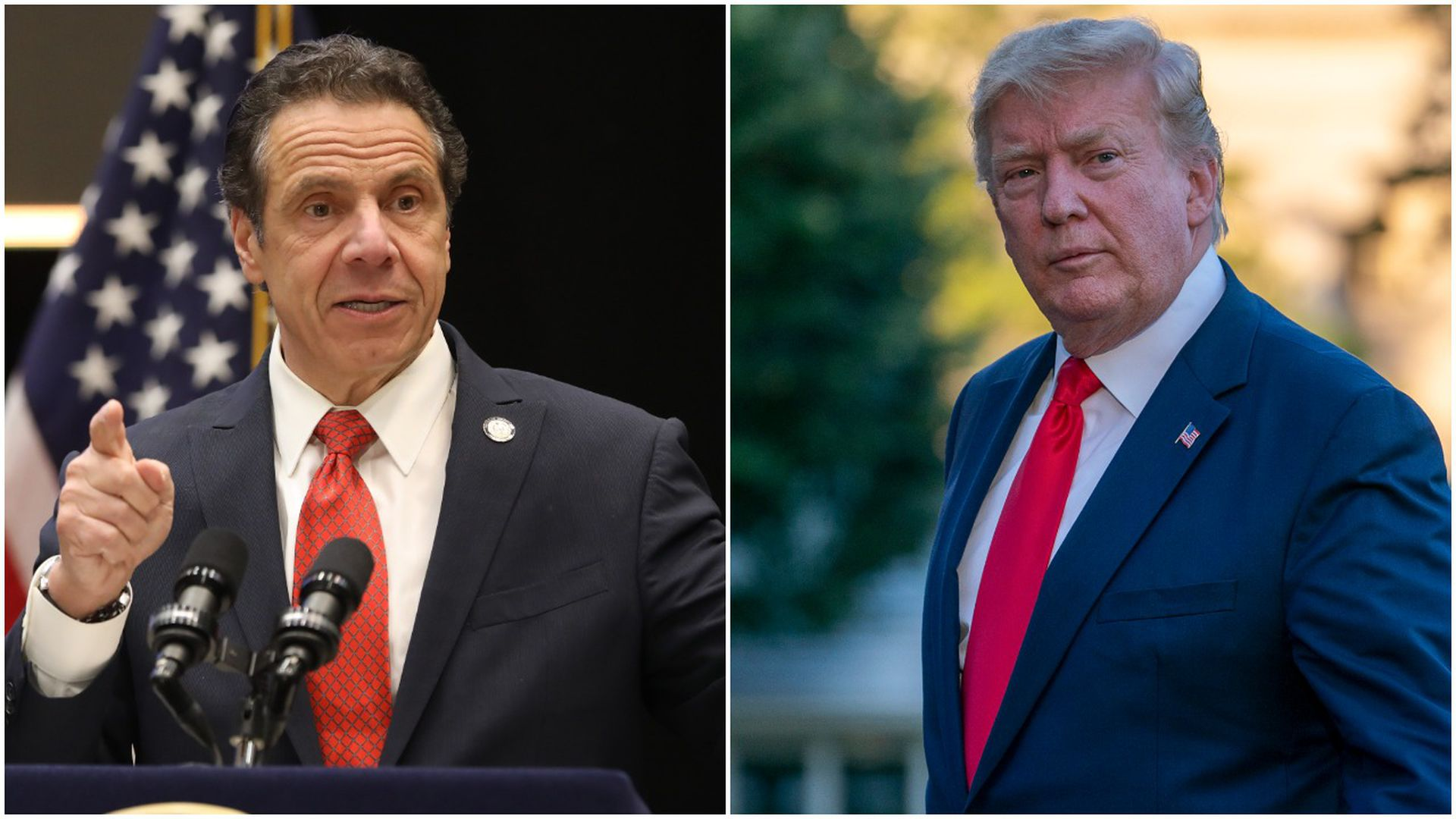 New York Gov. Andrew Cuomo and DOnald Trump