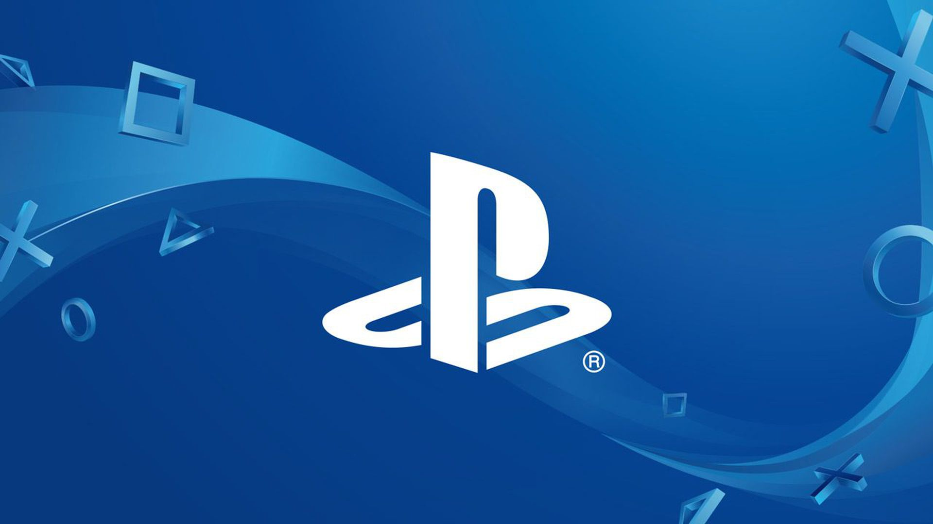 Sony's PlayStation logo against a blue background