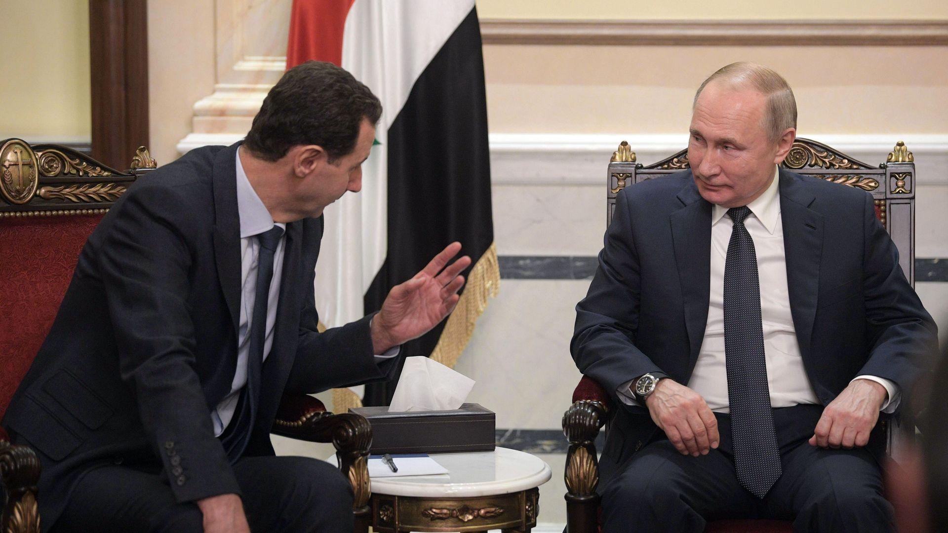 Putin tells Assad he should invite Trump to Damascus
