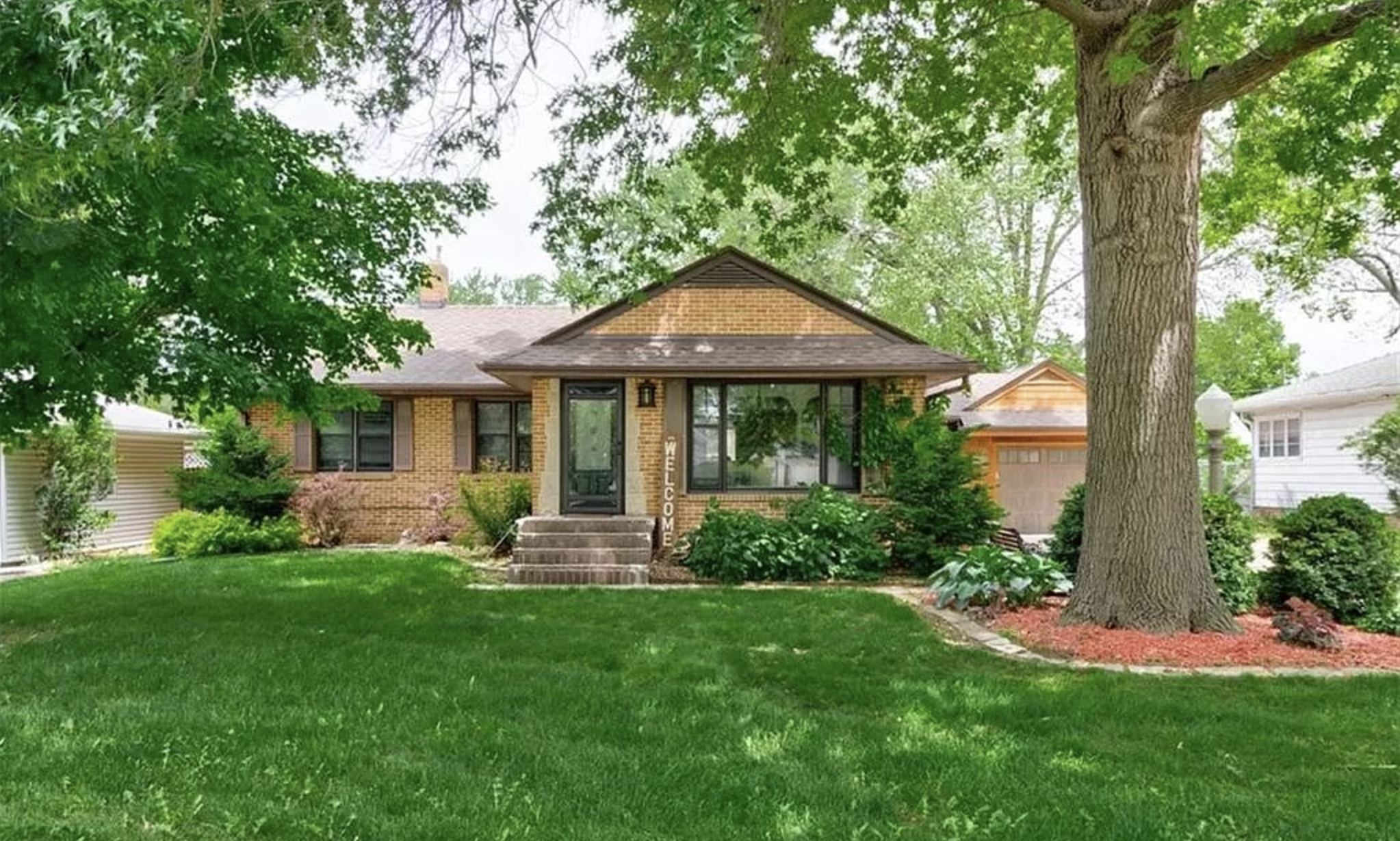 The exterior of a home for sale in Iowa.