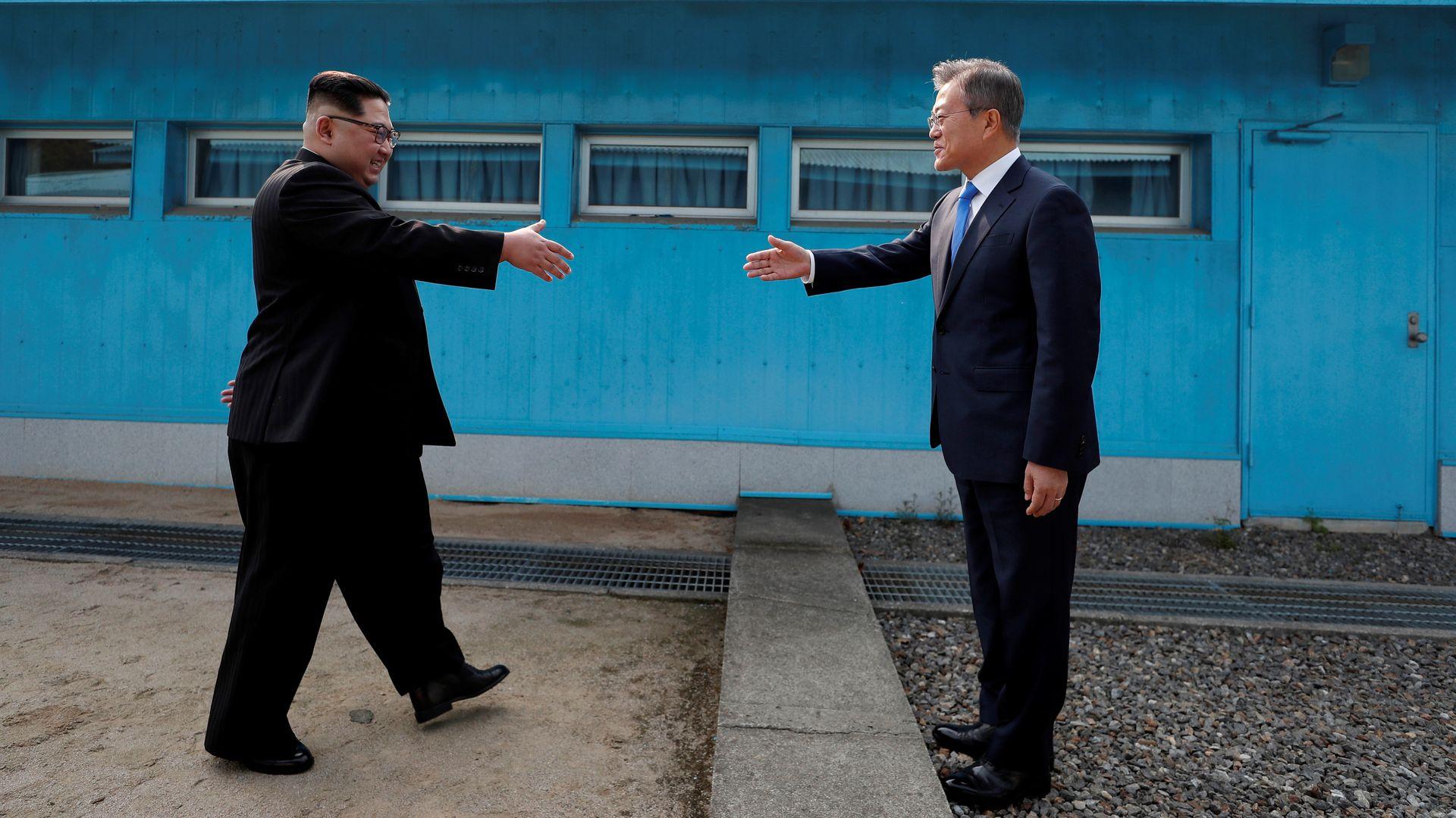Hand shake at DMZ