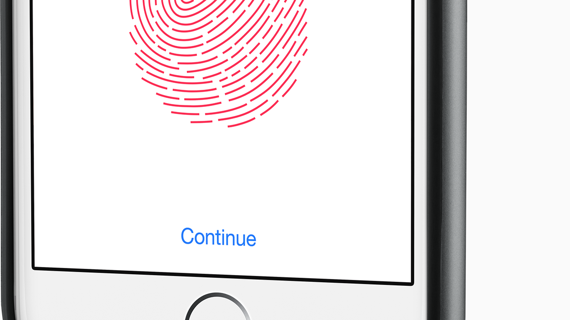 An image of an iPhone with TouchID fingerprint recognition