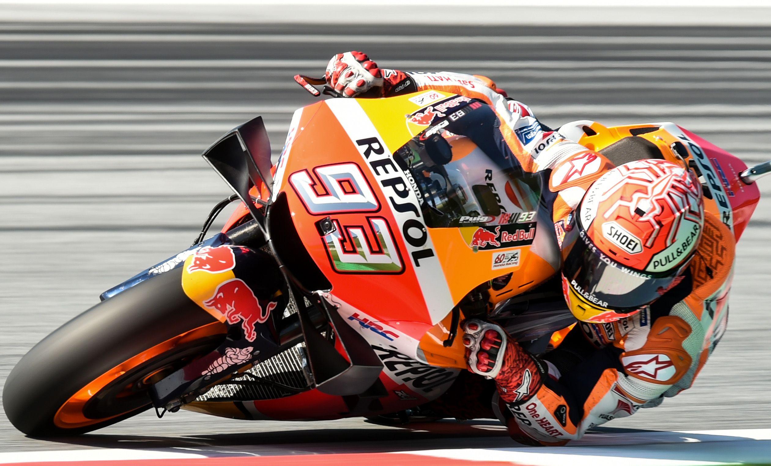 Marc Marquez racing his motorcycle