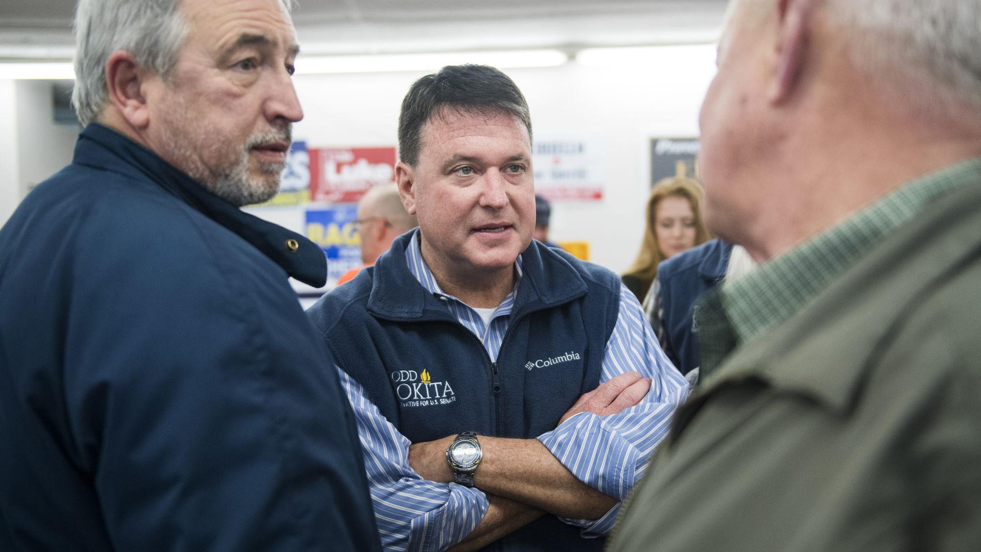 Rep. Todd Rokita in a vest with his arms crossed