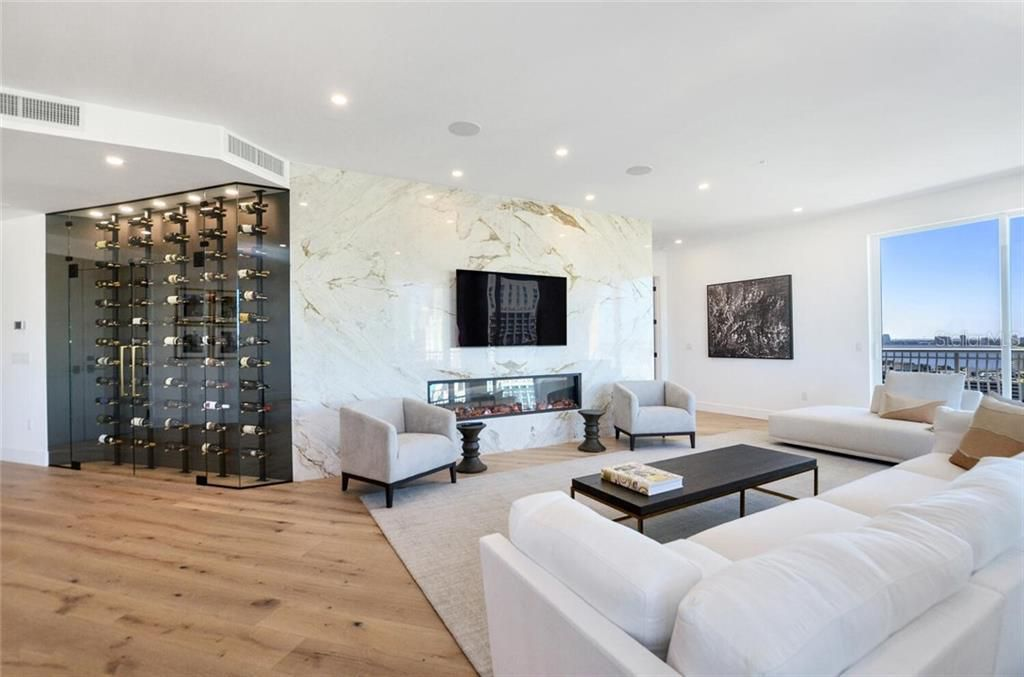 371 Channelside Walk Way #1902 wine displace and fireplace