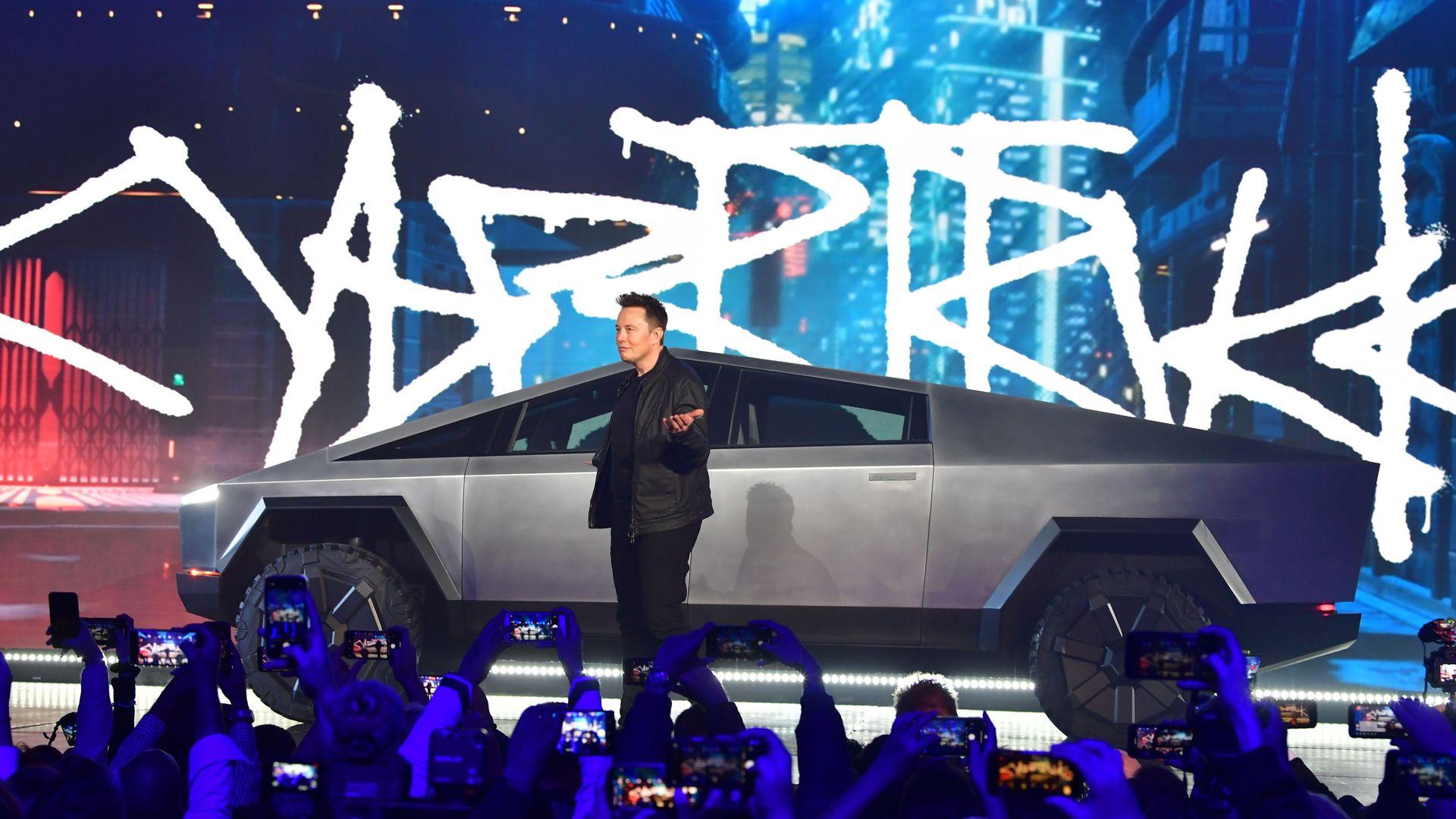 Elon Musk. Cybertruck