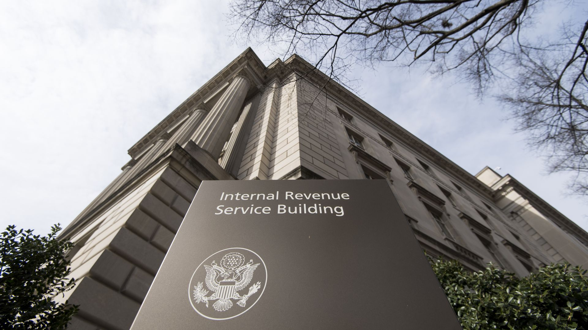 IRS building.