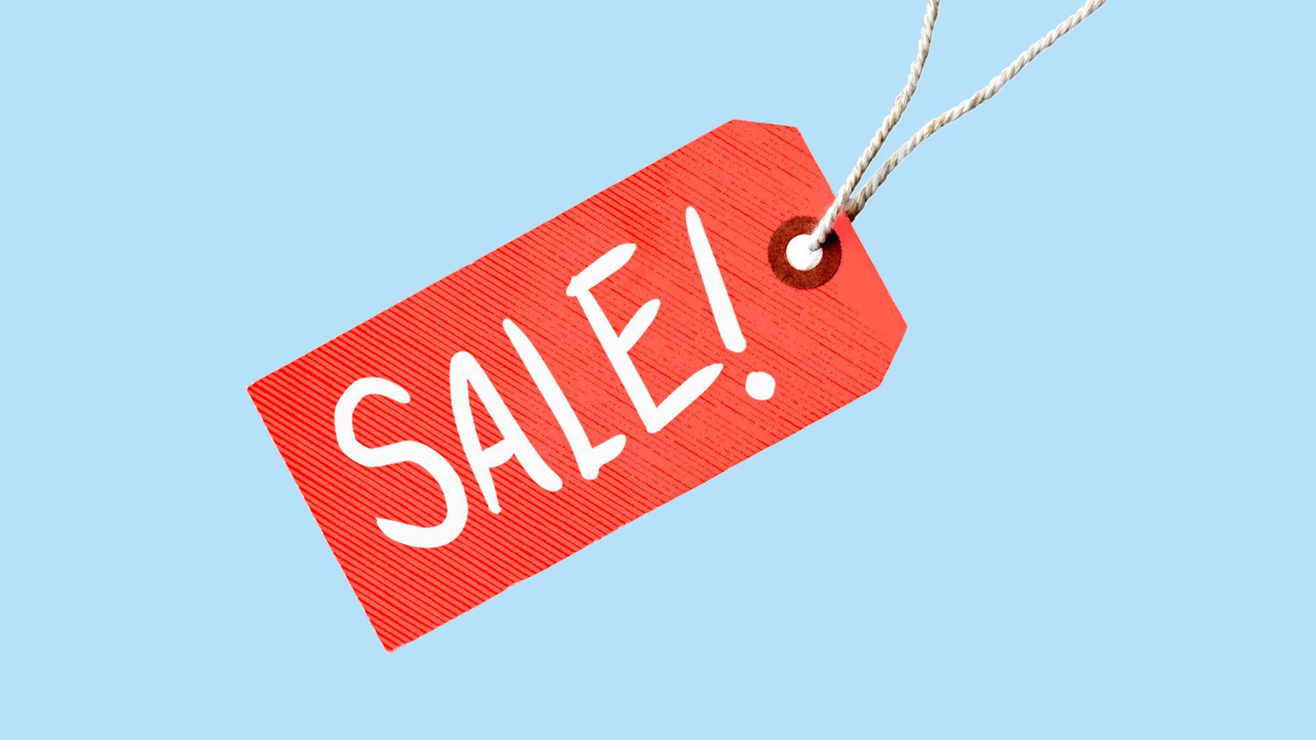 Photo illustration of a sale tag