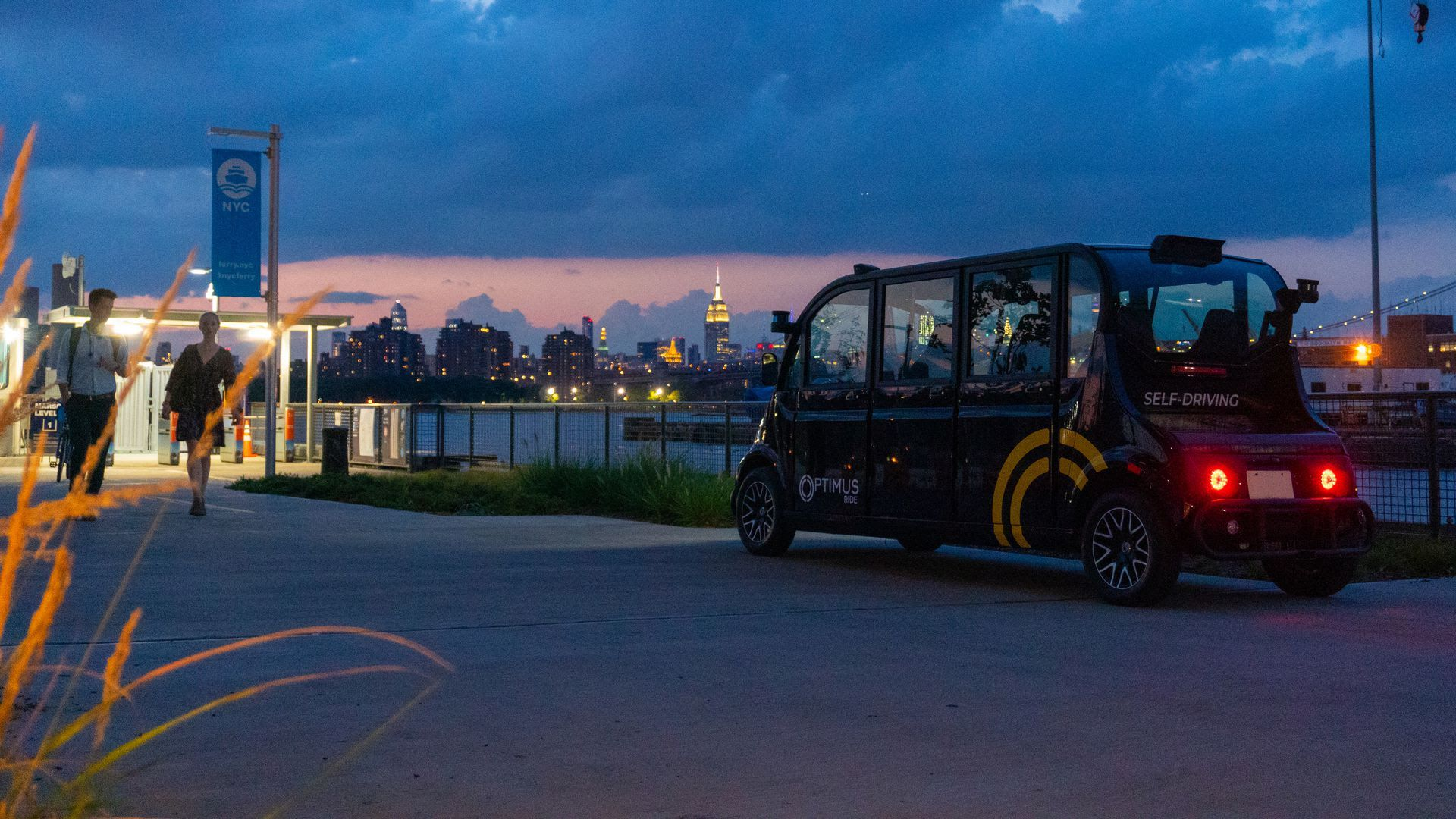AVs with a safety attendant will shuttle NY commuters. Photo: Optimus Ride