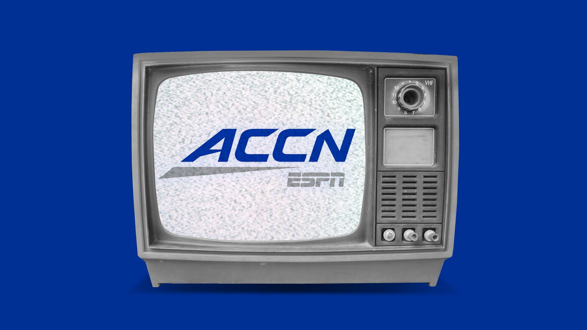 Illustration of the ACCN logo on a television set
