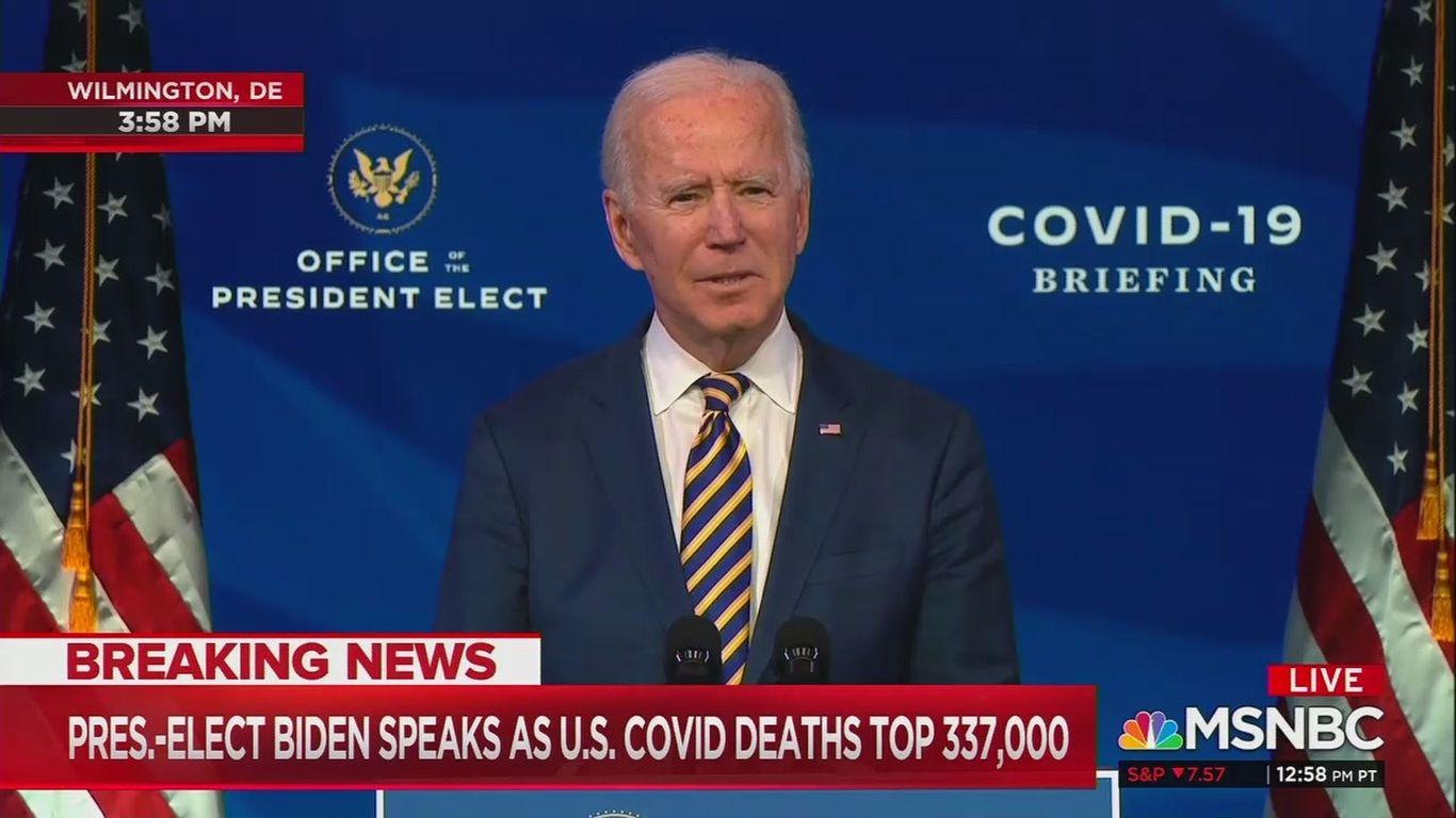 "Biden: Trump administration falling ""far behind"" on vaccine distribution thumbnail"