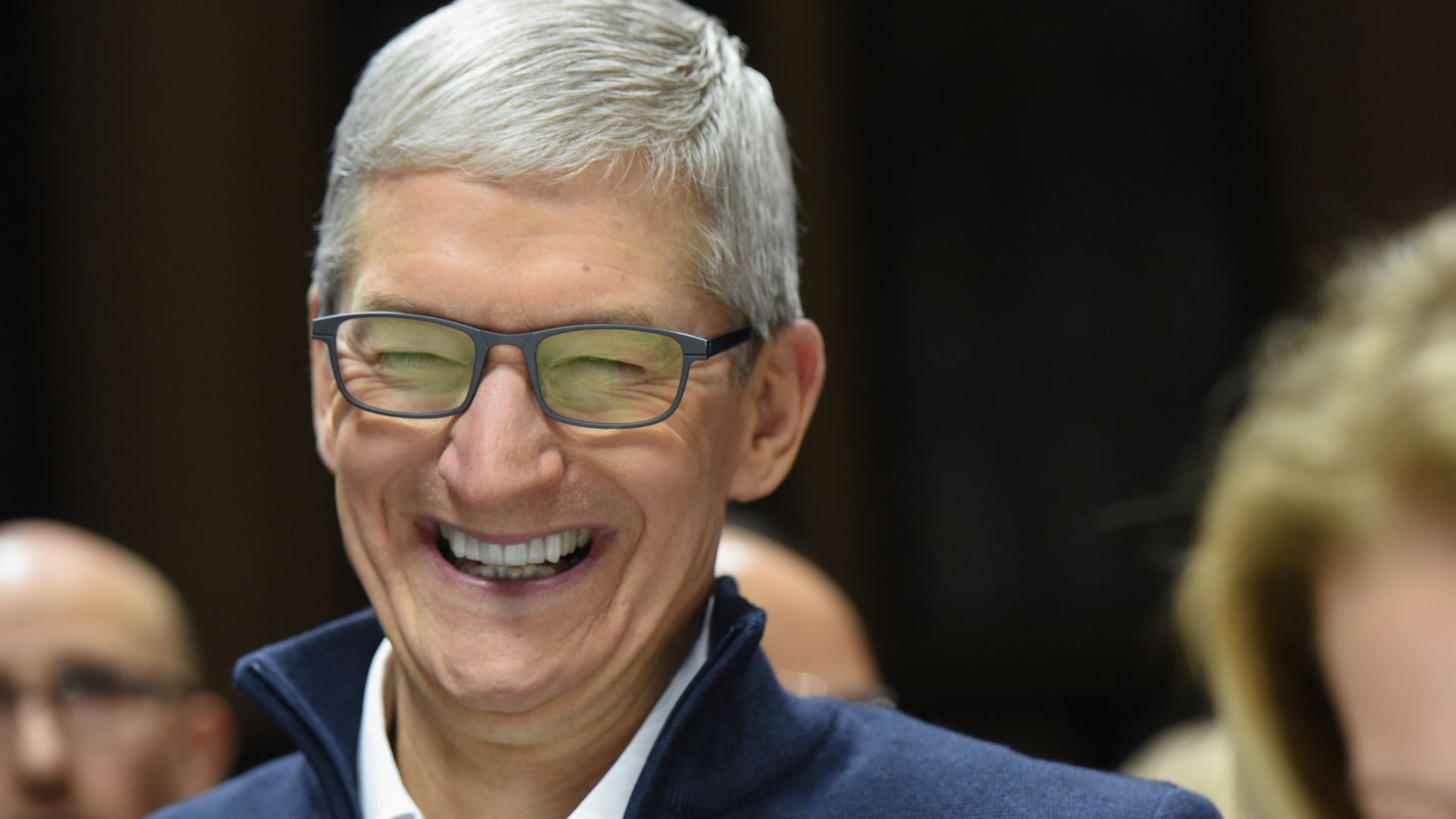 Apple CEO Tim Cook smiling