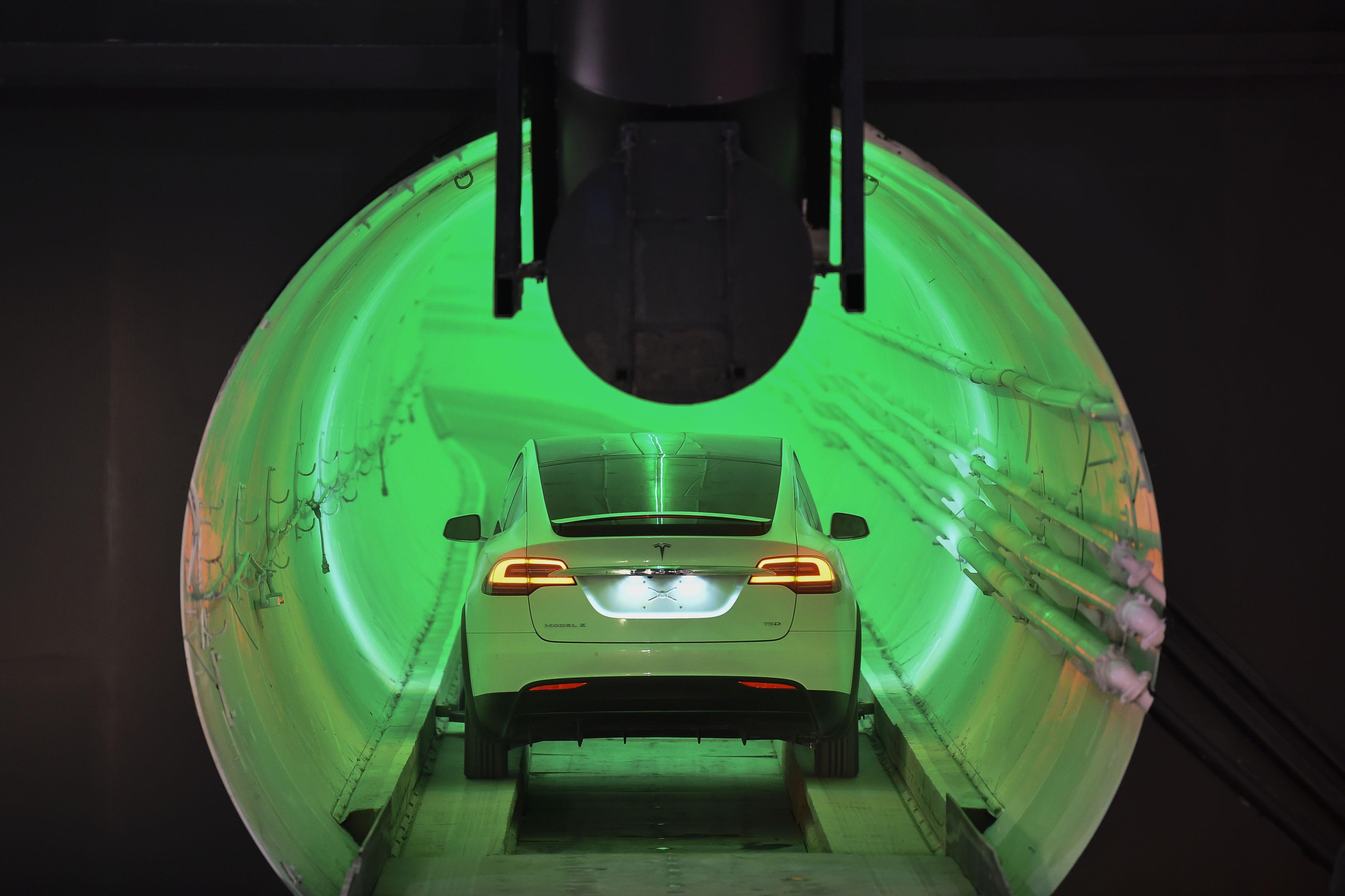 Tesla uses underground tunnel