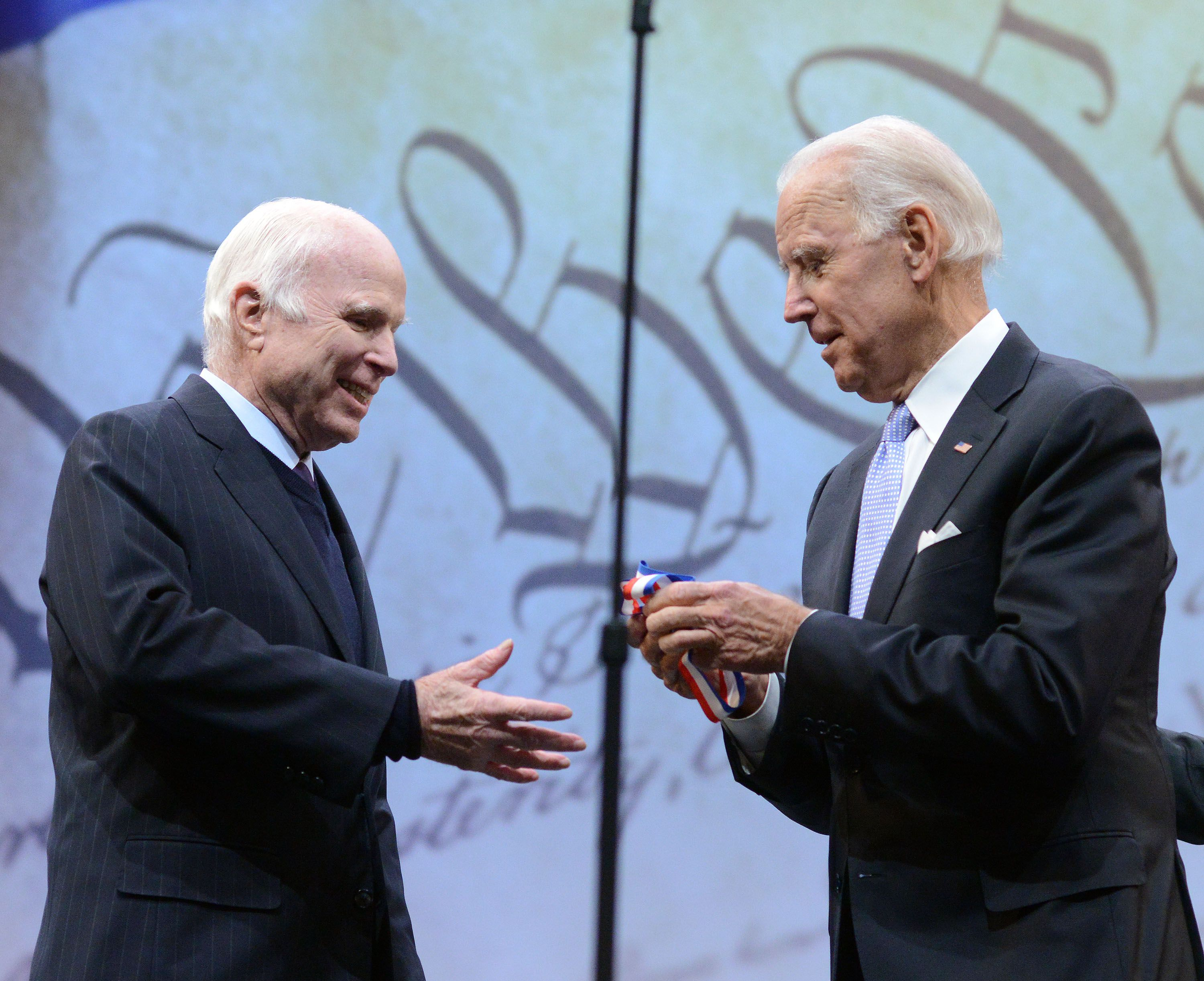 Joe Biden gives McCain the medal of Freedom