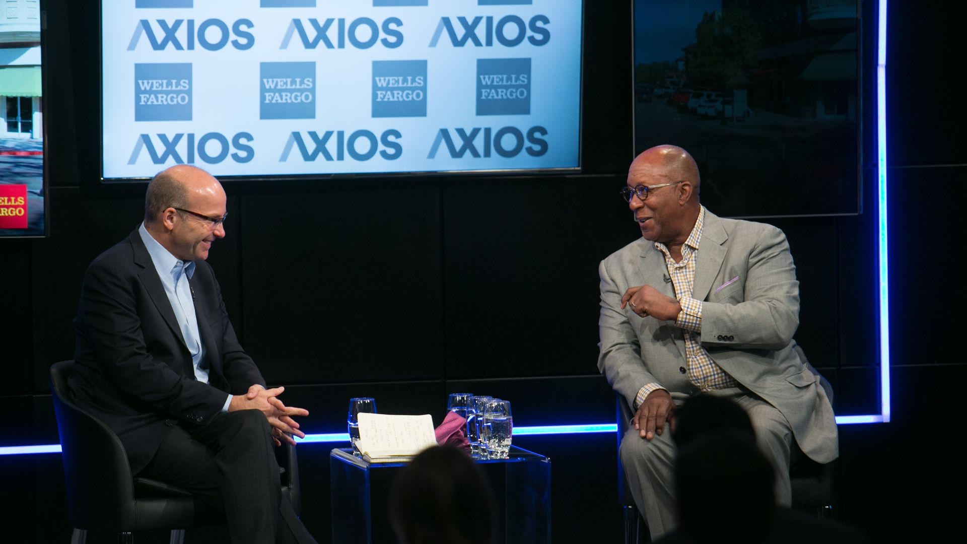 Ambassador Ron Kirk speaking with Mike Allen on the Axios stage