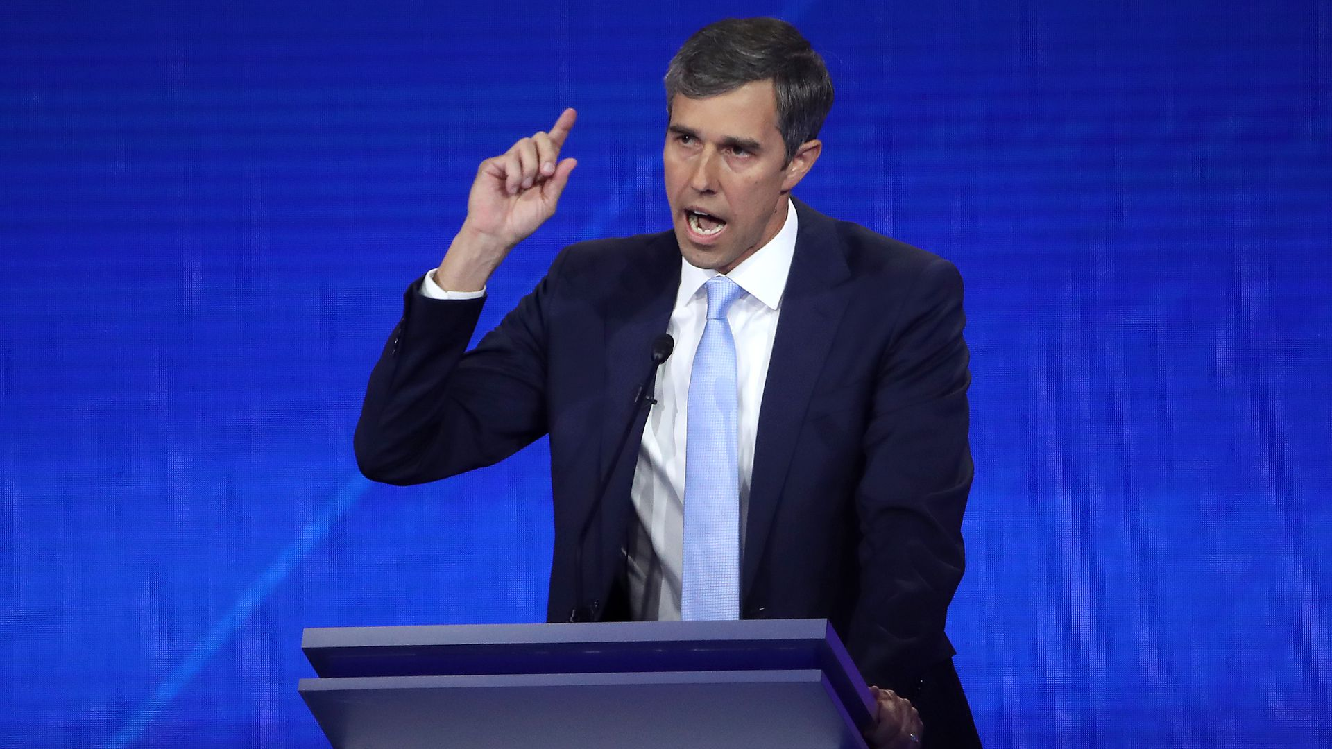 Democratic presidential candidate Beto O'Rourke speaks during the Democratic Presidential Debate.