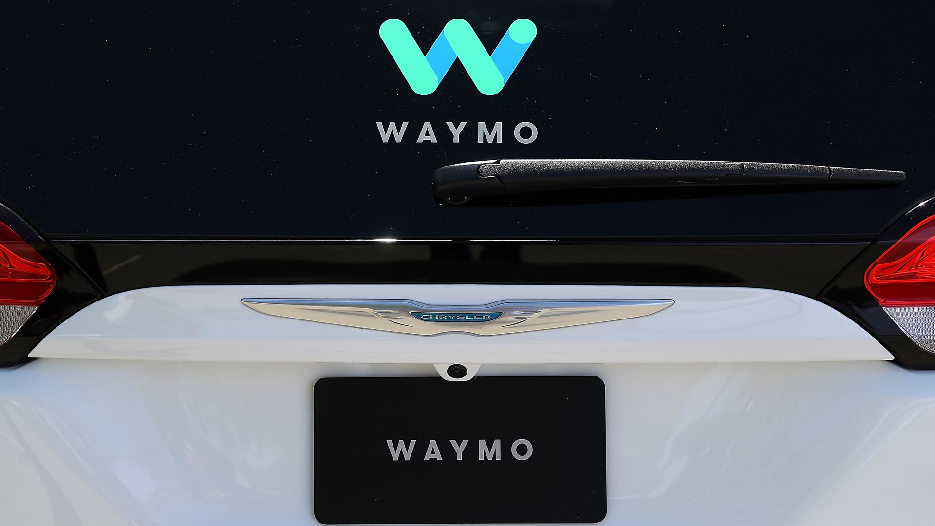 Self-driving cChrysler car Waymo.