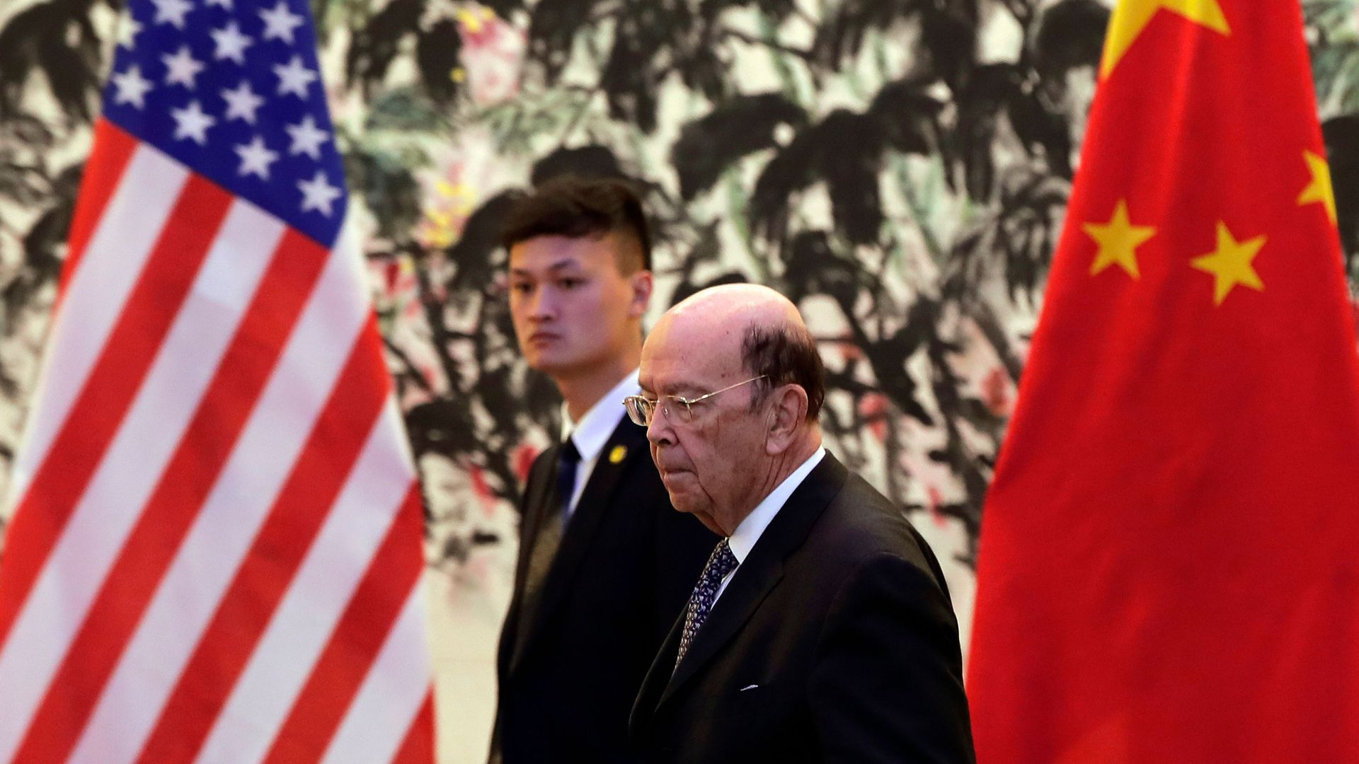US Commerce Secretary Wilbur Ross arrives to the Diaoyutai State Guesthouse to attend a meeting with Chinese Vice Premier Liu He in Beijing on June 3, 2018.