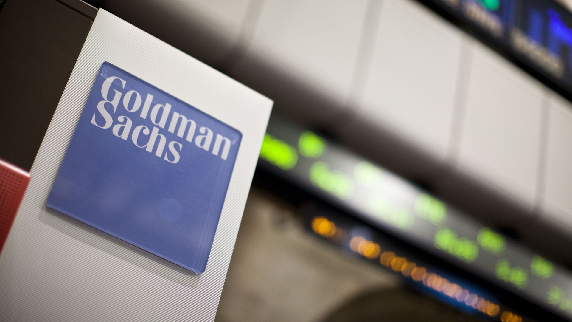Goldman Sachs trading booth on the floor of the New York Stock Exchange in New York, on Thursday, January 6, 2011.