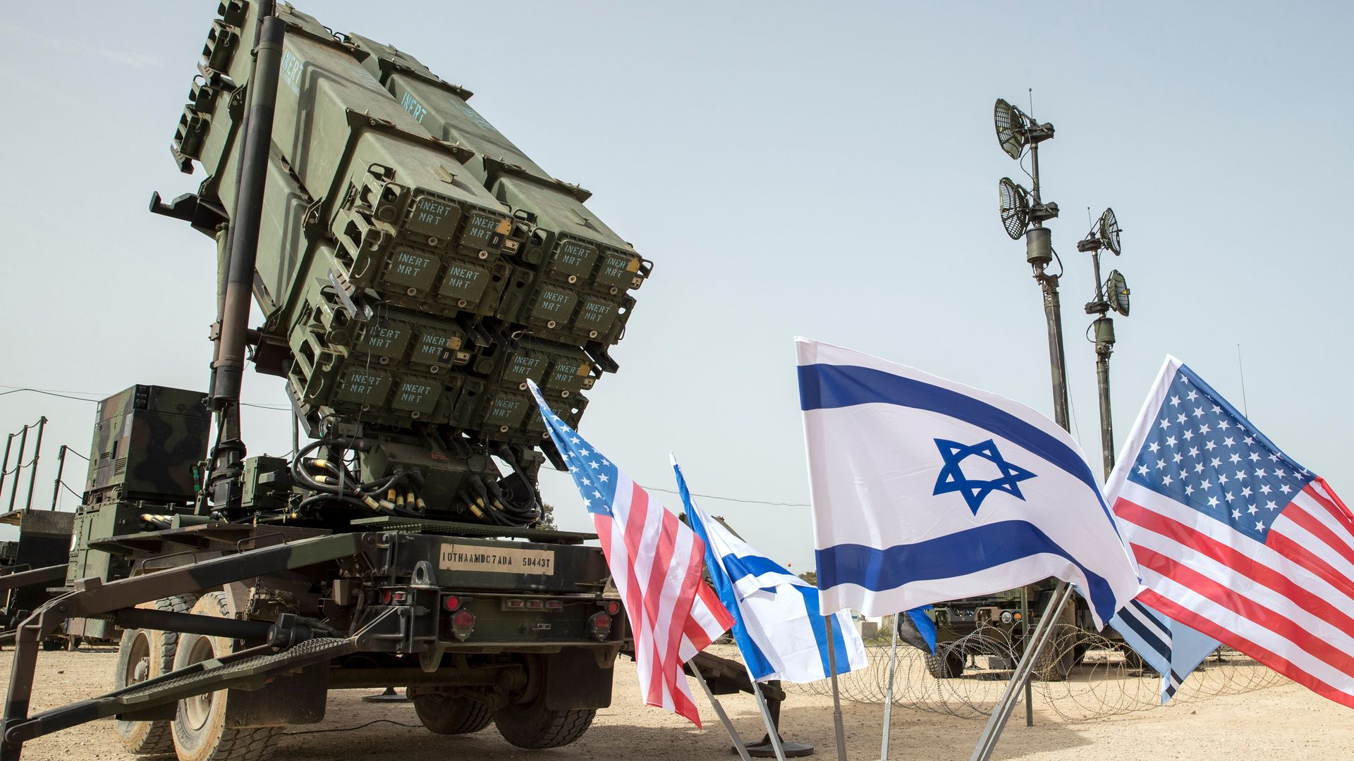 A US Patriot missile defense system during a joint Israeli-US military exercise