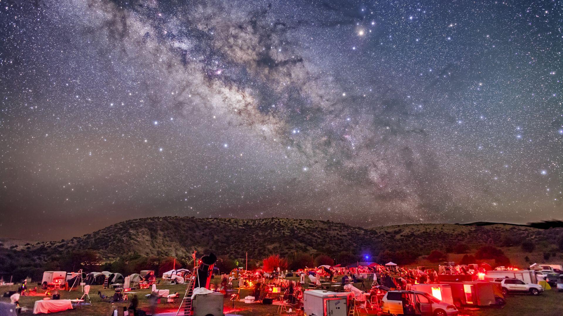 The Milky Way, as seen over Fort Davis, Texas