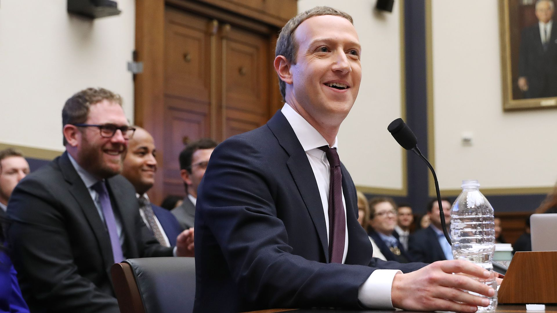 Facebook co-founder and CEO Mark Zuckerberg testifies before the House Financial Services Committee