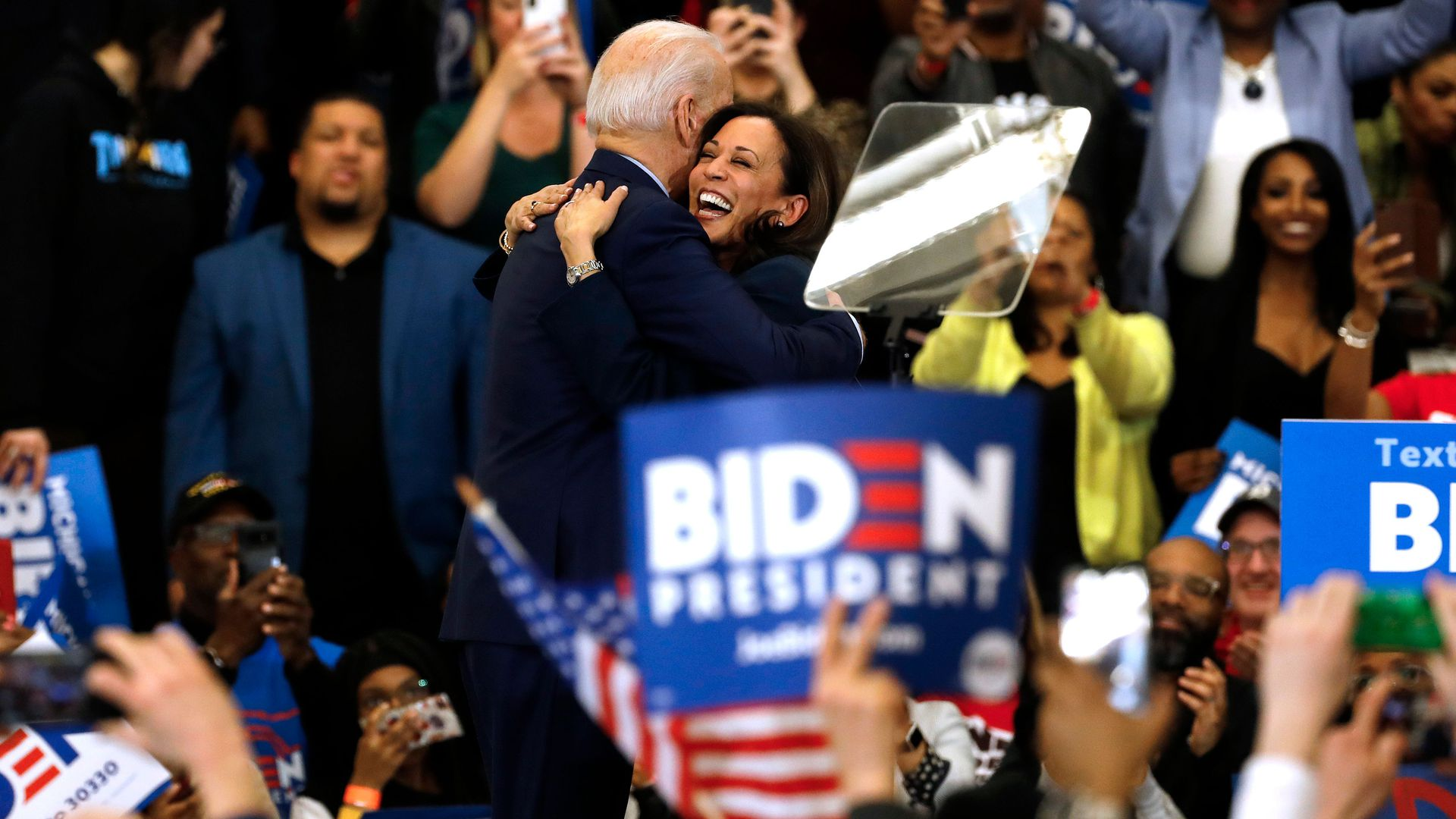 Political World Reacts To Biden Tapping Kamala Harris As Running Mate Axios