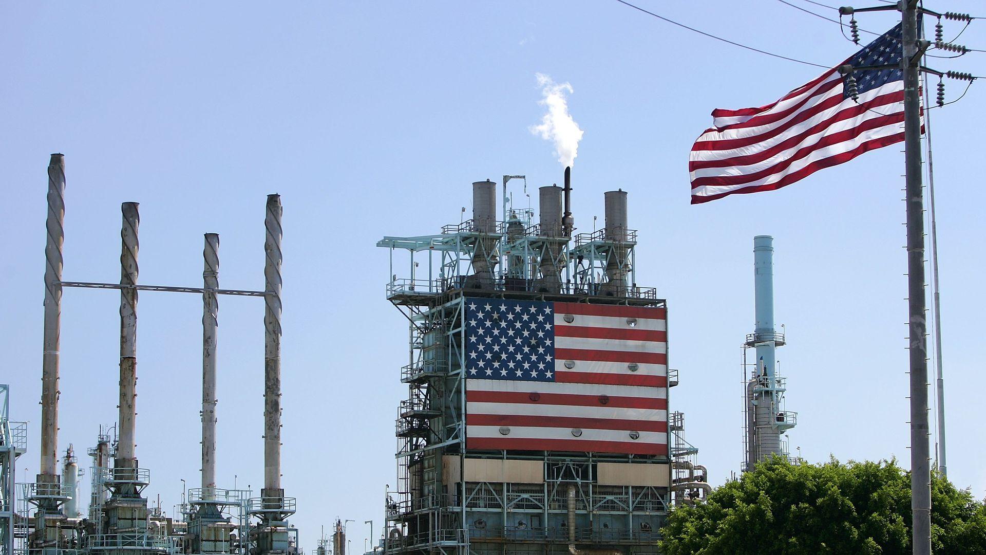 A BP oil refinery in California.