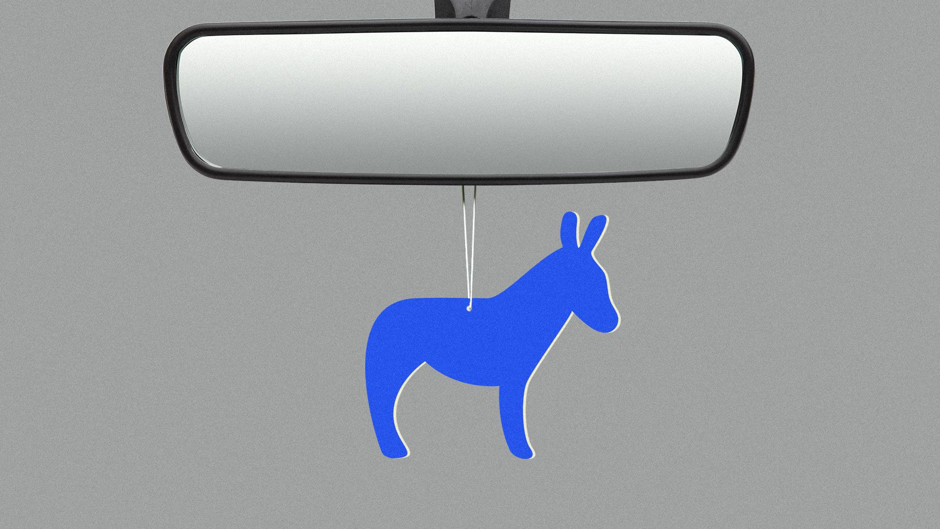 Illustration of a car freshener in the shape of a donkey.