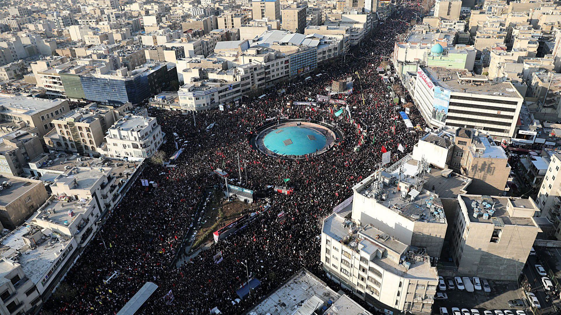 In photos: Huge crowds in Iran for Soleimani funeral