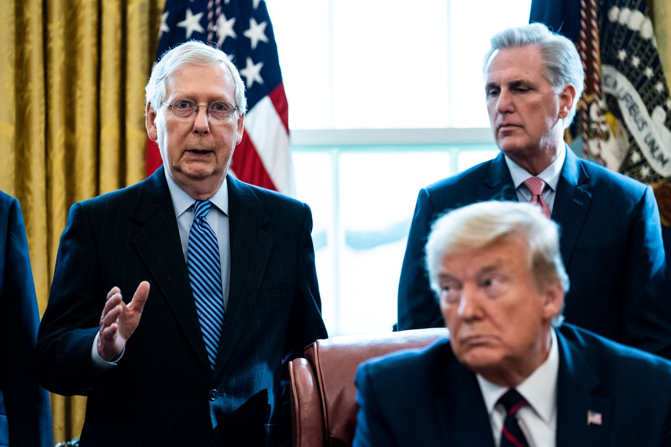 """""""There will be no delay:"""" Top Republicans reject Trump's suggestion to postpone election thumbnail"""
