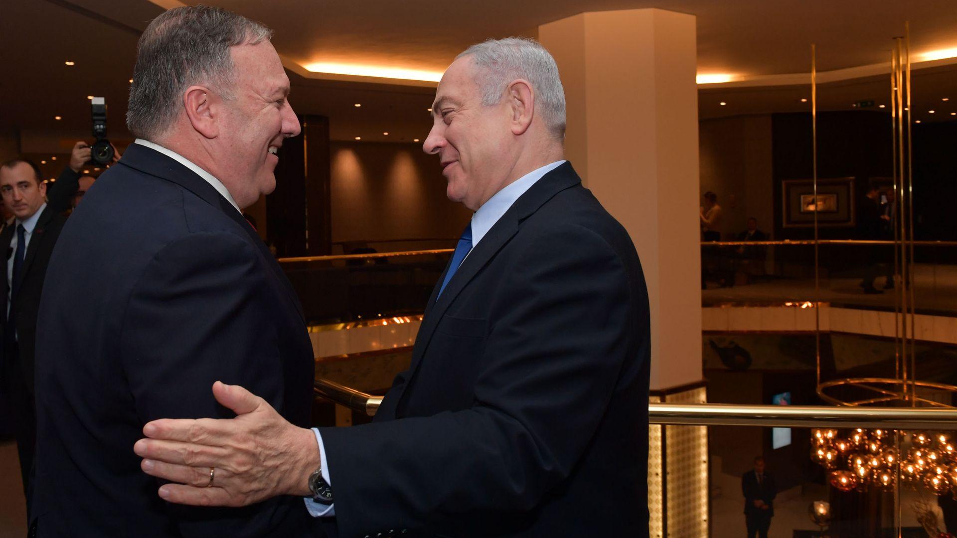 Benjamin Netanyahu and Mike Pompeo