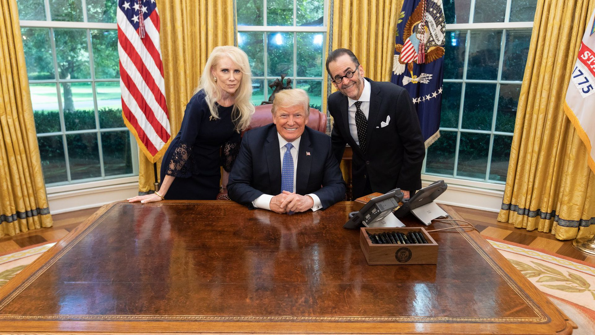 How a qanon conspiracy theorist visited trump in the oval office axios