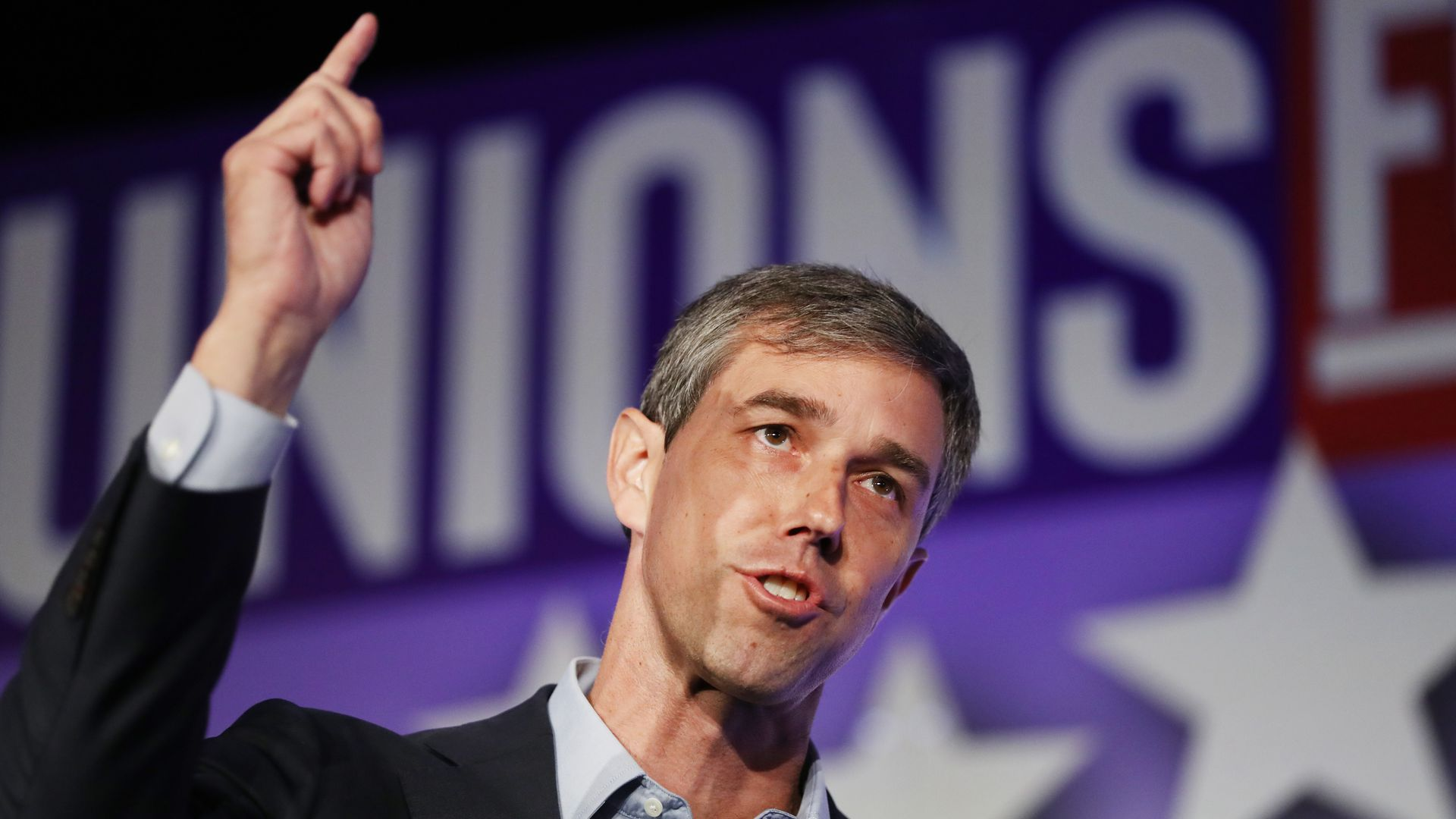 Democratic presidential candidate former U.S. Rep. Beto O'Rourke (D-TX) speaks at the SEIU Unions for All Summit on October 5, 2019 in Los Angeles, California.