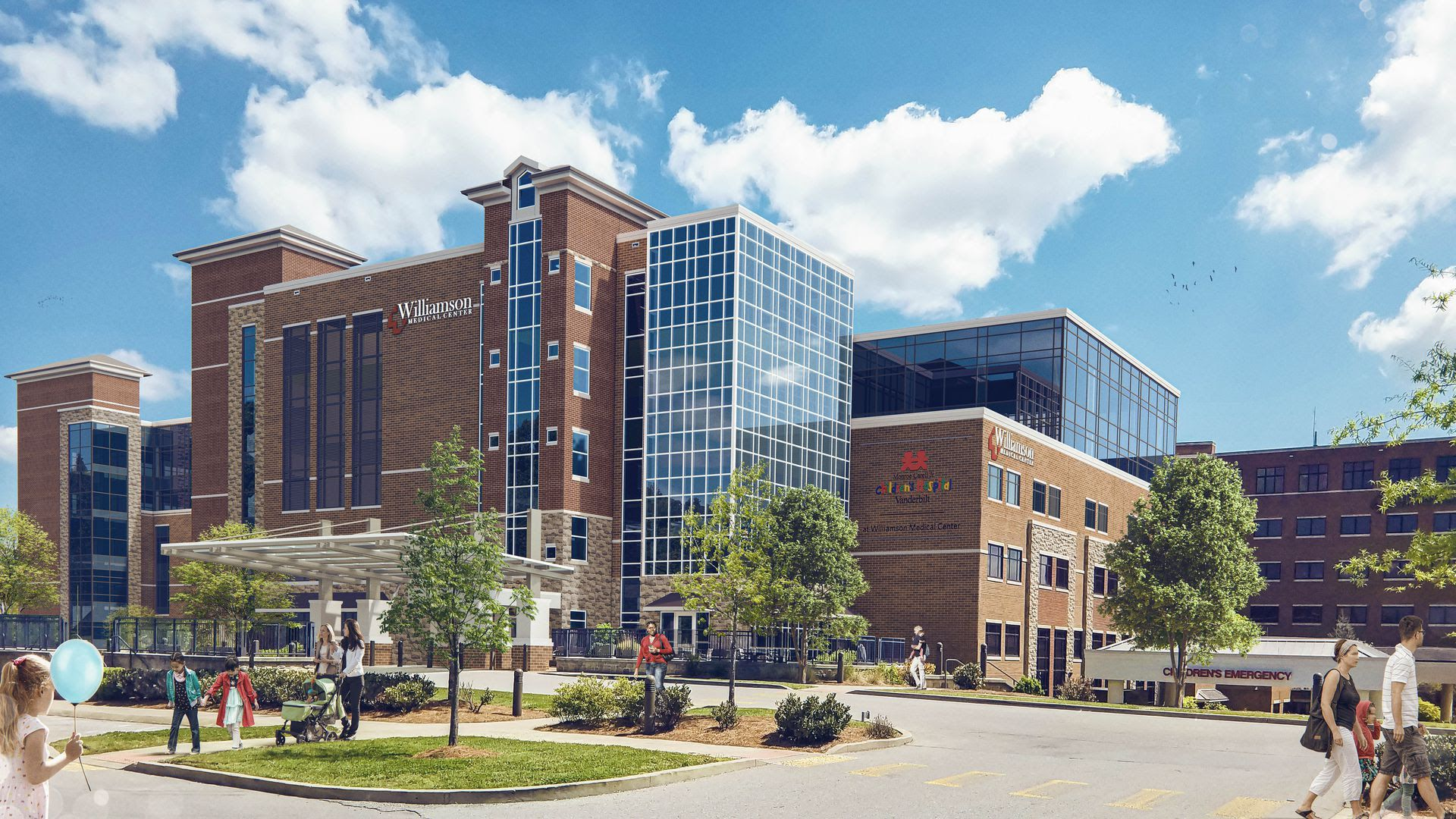 A rendering shows planned improvements to Williamson Medical Center.