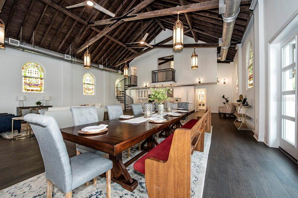 St. Pete church turned luxury home dining room
