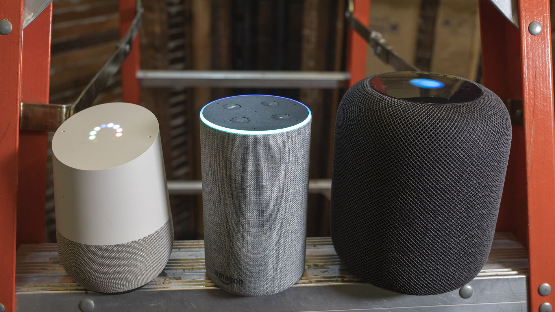 Smart speakers from Google, Amazon and Apple
