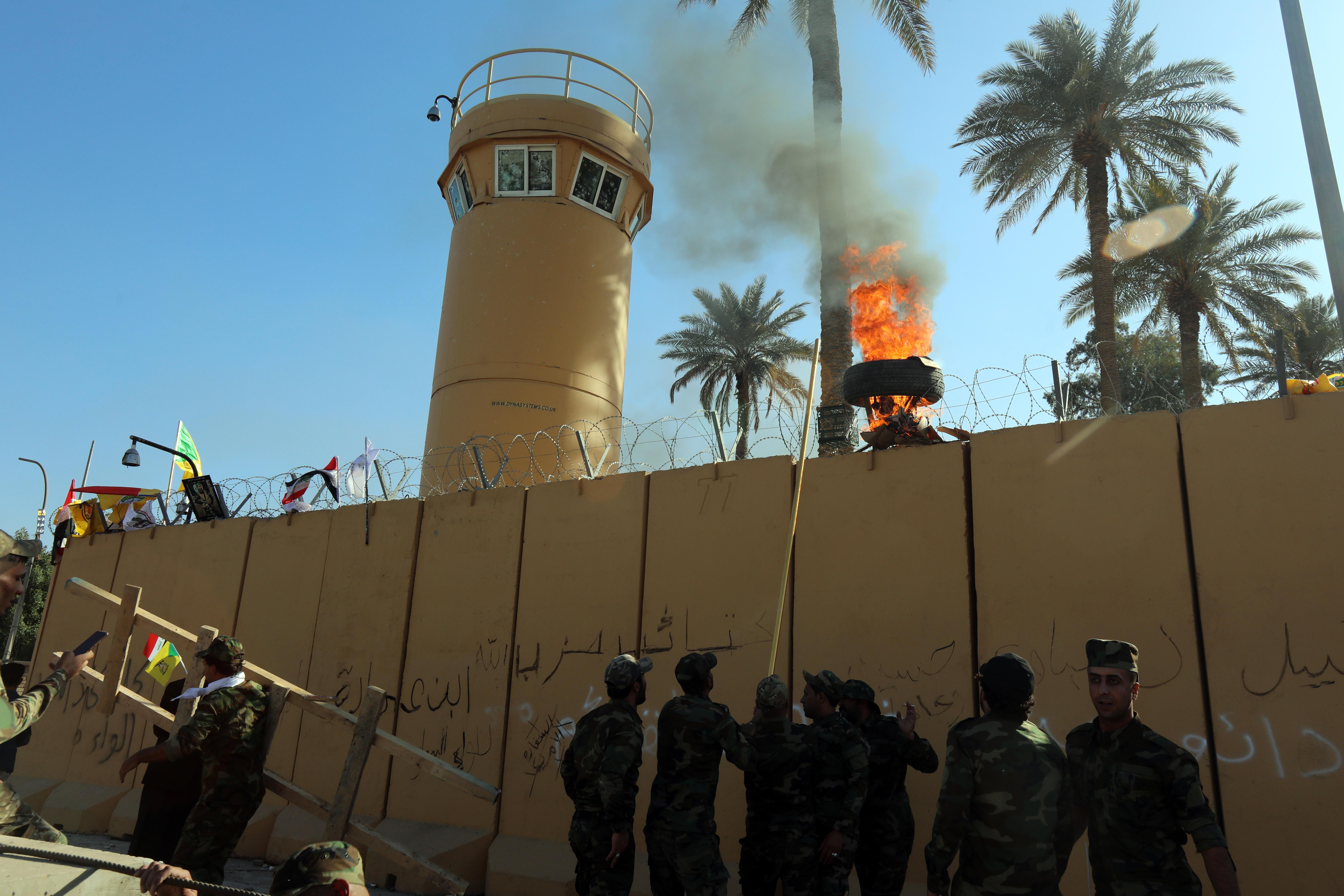 """Iraq base hosting U.S. military in Baghdad hit by """"small rockets"""" - Axios"""
