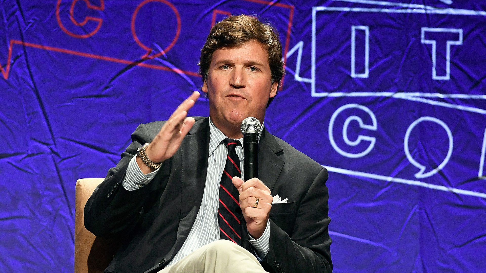 Fox News host Tucker Carlson defiantly responded to controversial audio of him that resurfaced this week.