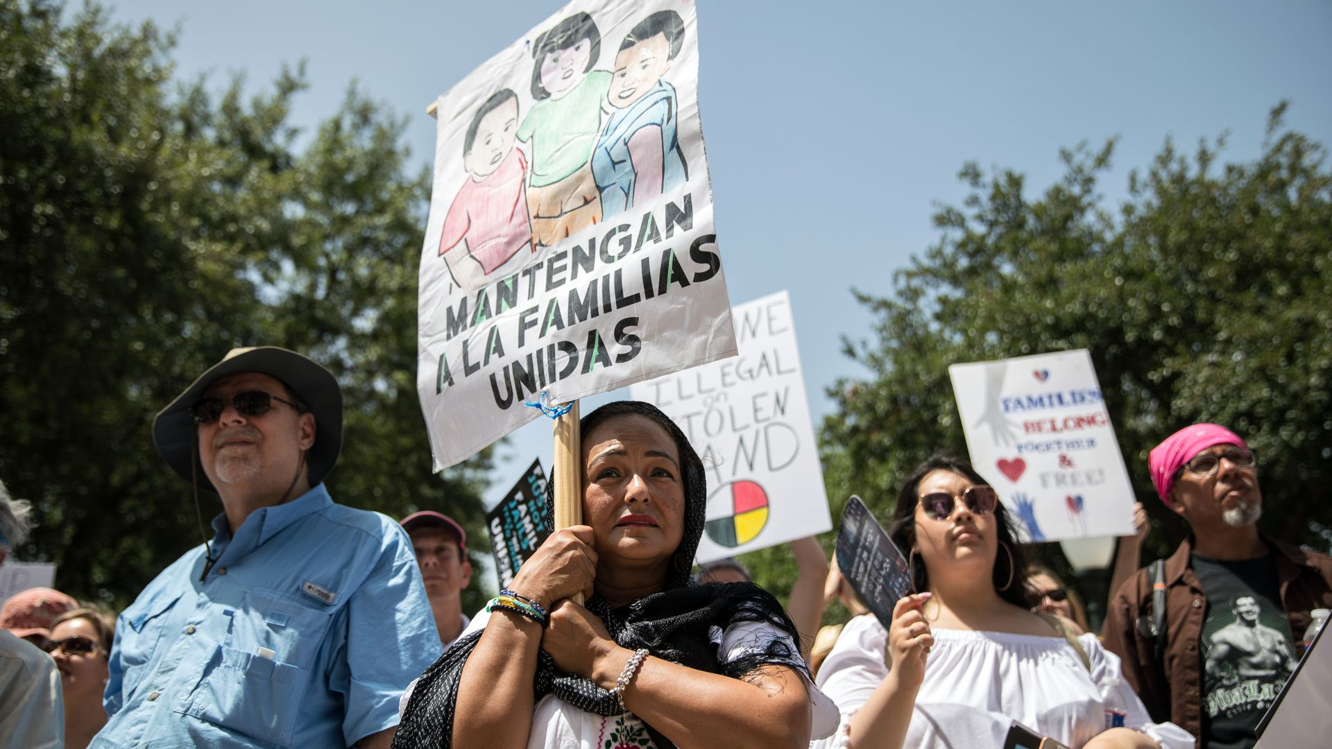 Demonstrators at a rally last year in Texas against the Trump administration's immigration policies.