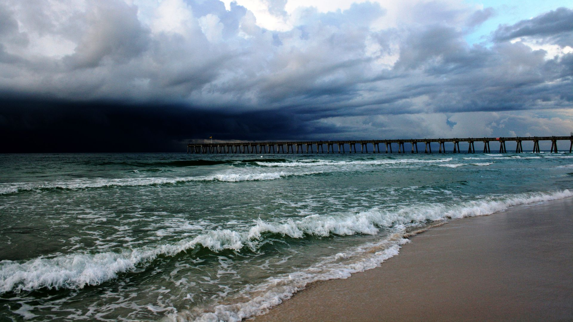 A stormy day on Pensacola Beach.
