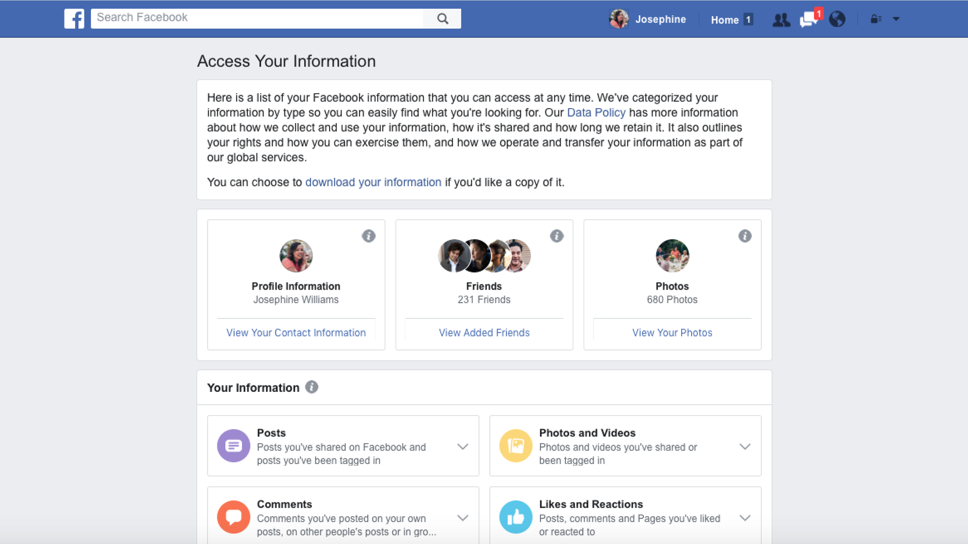 Facebook's new privacy settings offer users a more detailed view of what information it collects