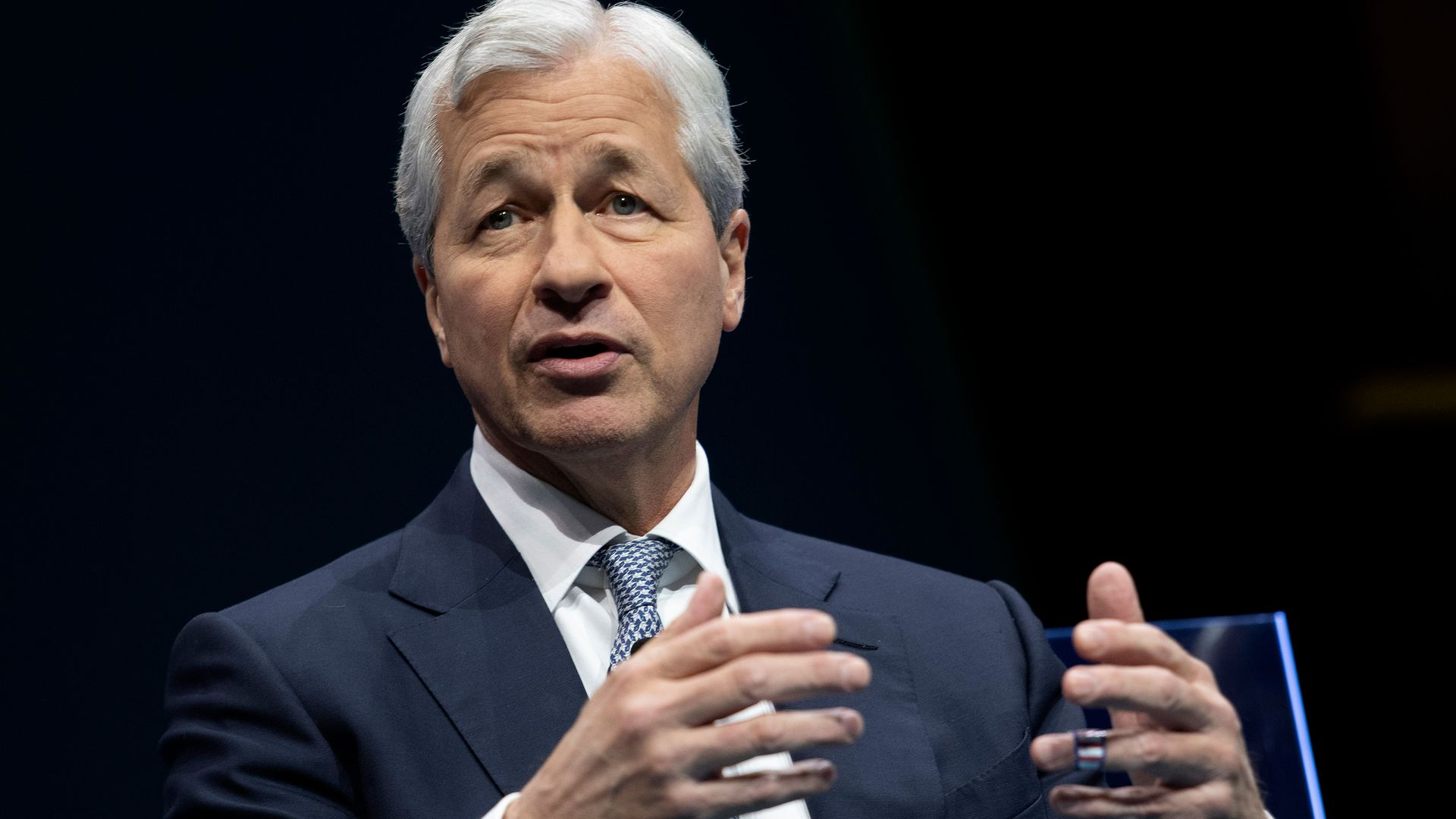 JPMorgan Chase & Co. CEO Jamie Dimon speaks during the Business Roundtable CEO Innovation Summit in Washington, DC on December 6, 2018