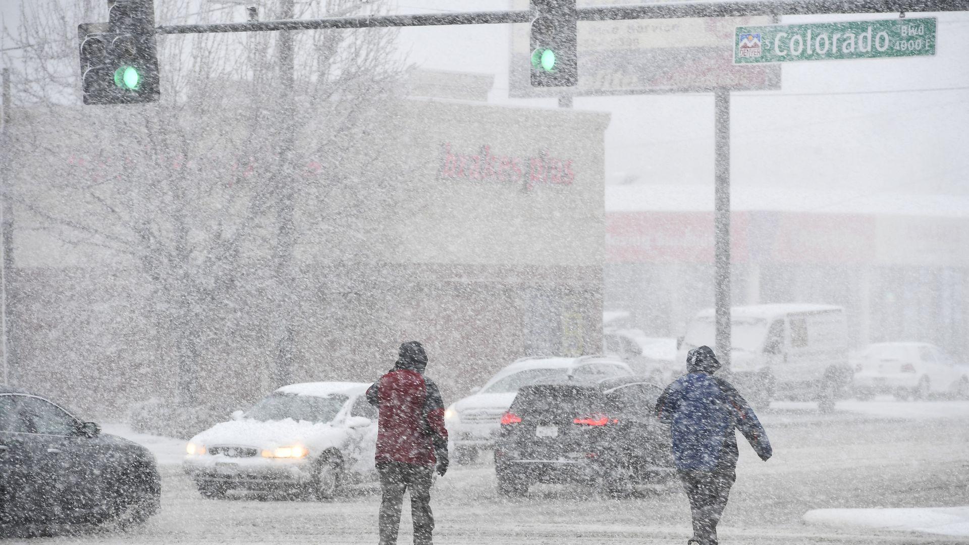 A snowstorm in Denver