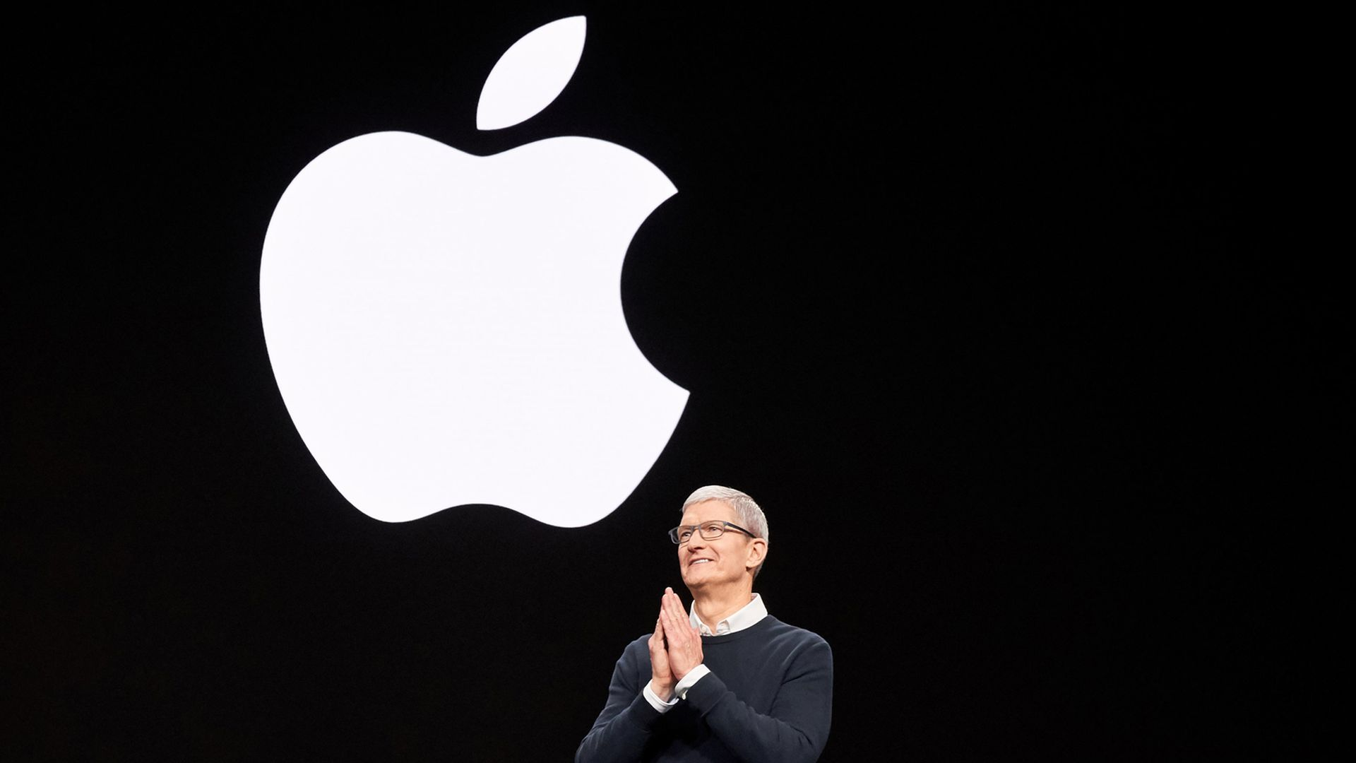 Apple CEO Tim Cook, speaking at a March press event.