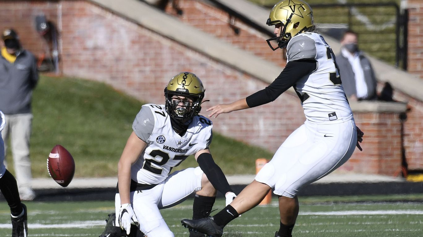 Vanderbilt kicker becomes first woman to play in Power 5 football