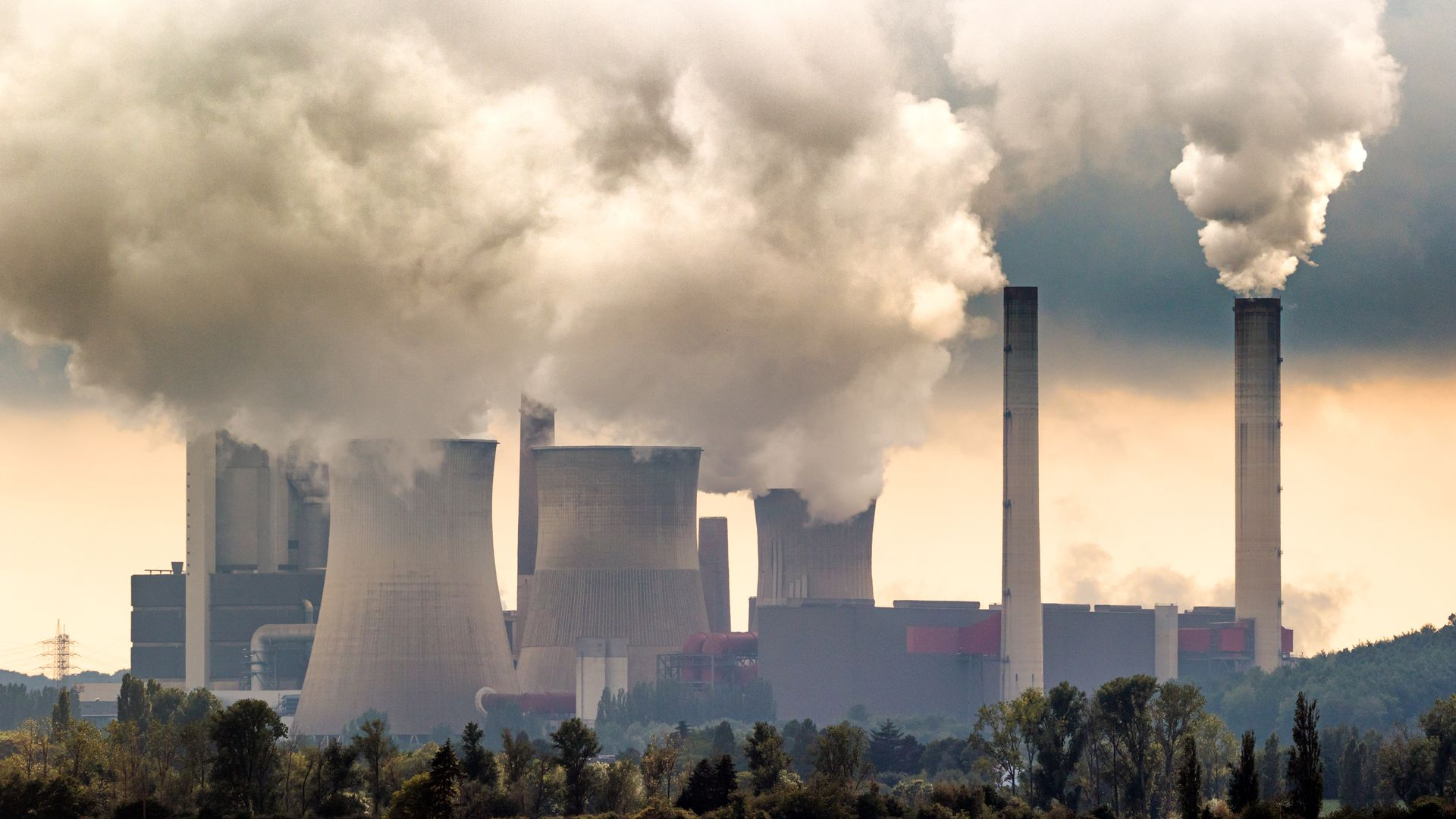 Coal plant towers.