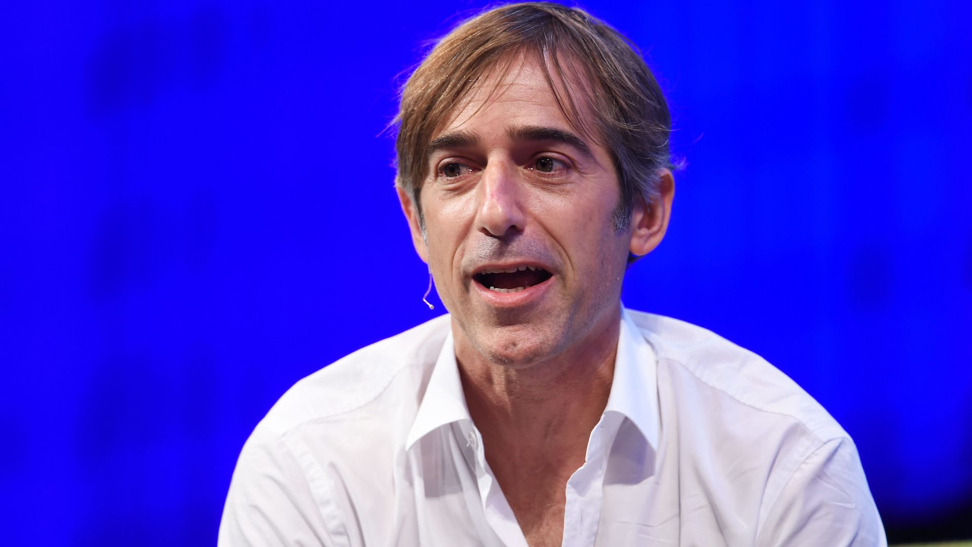 Mark Pincus sitting on stage